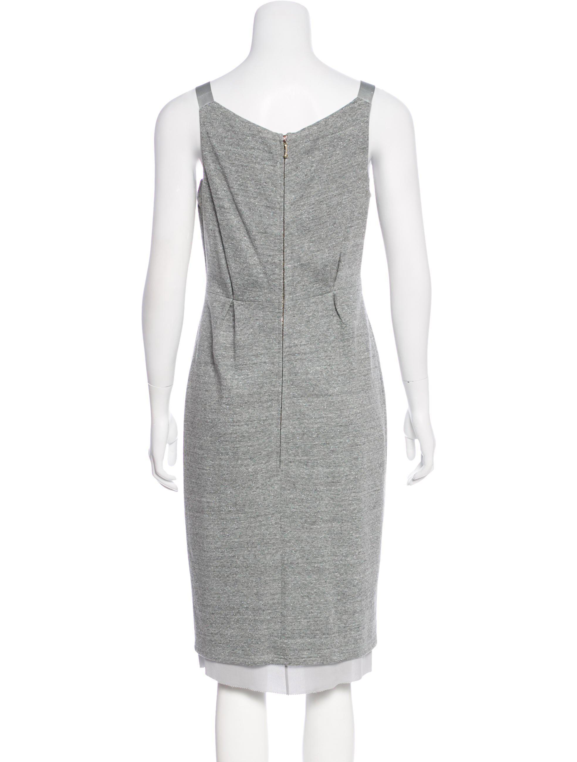 Buy Cheap Popular Sale Choice Peter Som Sleeveless Midi Dress 4WacEGgycn