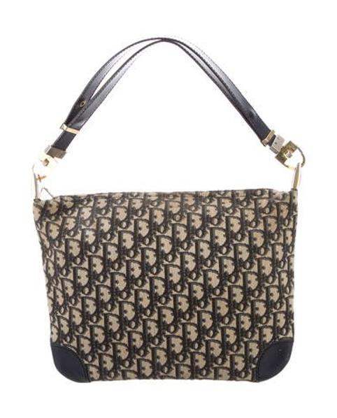 Lyst - Dior Leather-trim Diorissimo Bag Blue in Metallic 469e9aa8867e1