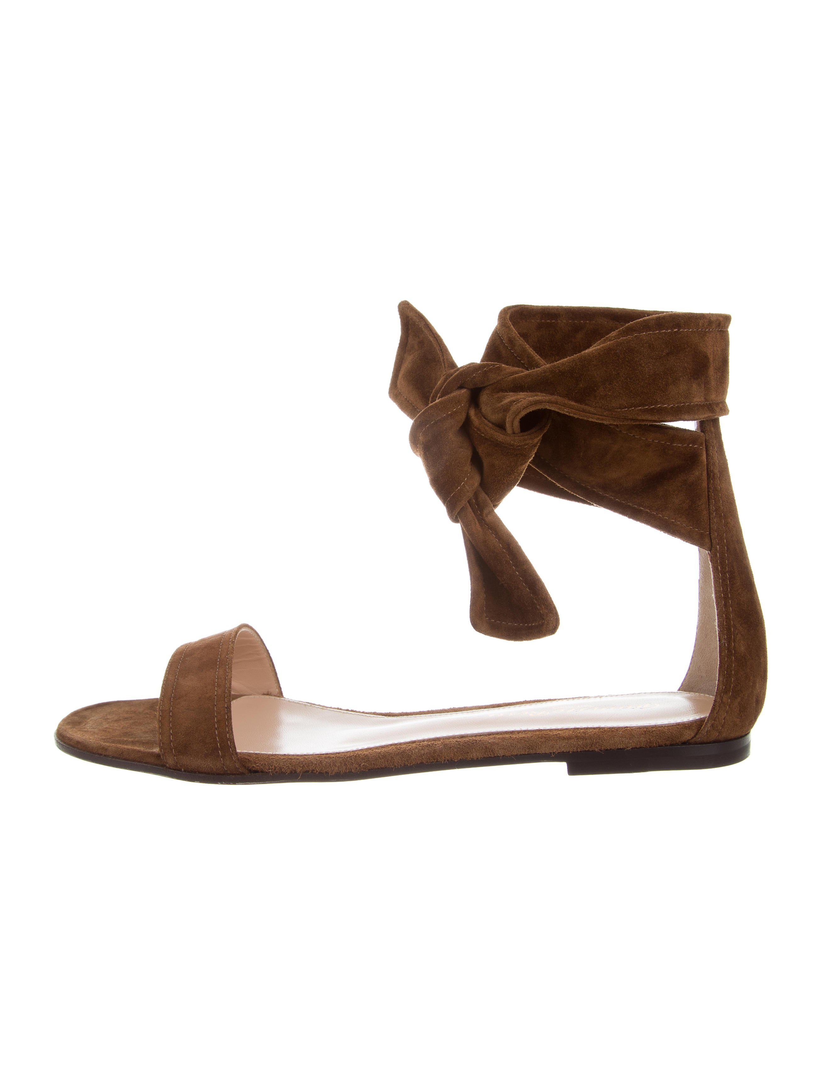 buy cheap find great outlet online Gianvito Rossi Suede Beverly Sandals w/ Tags cheap best buy cheap wide range of cheap sale geniue stockist wT0glk1