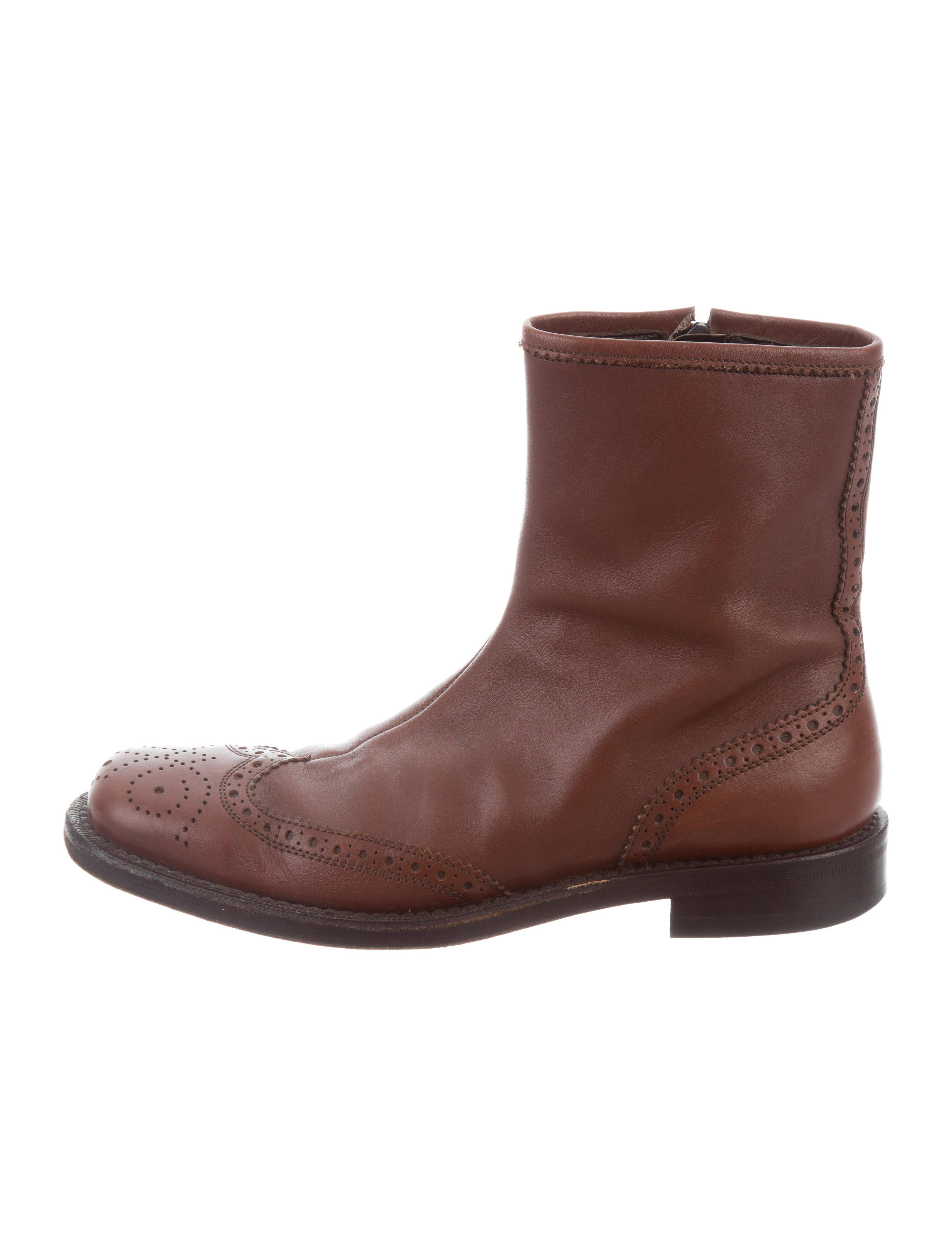 Miu Miu Wingtip Brogue Ankle Boots discount codes really cheap GSHCOe