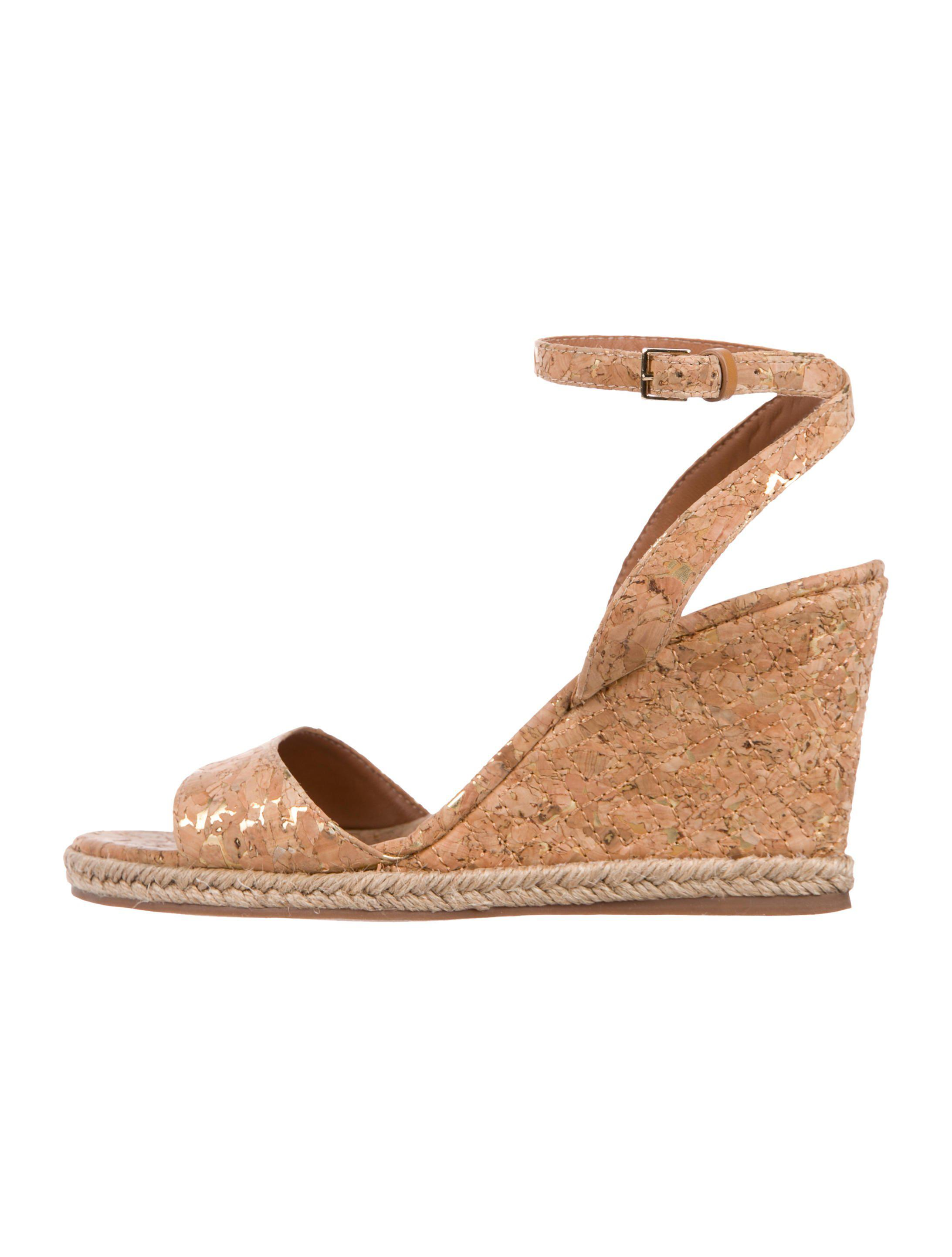 45a78bb3f945 Lyst - Tory Burch Cork Marion Sandals in Natural