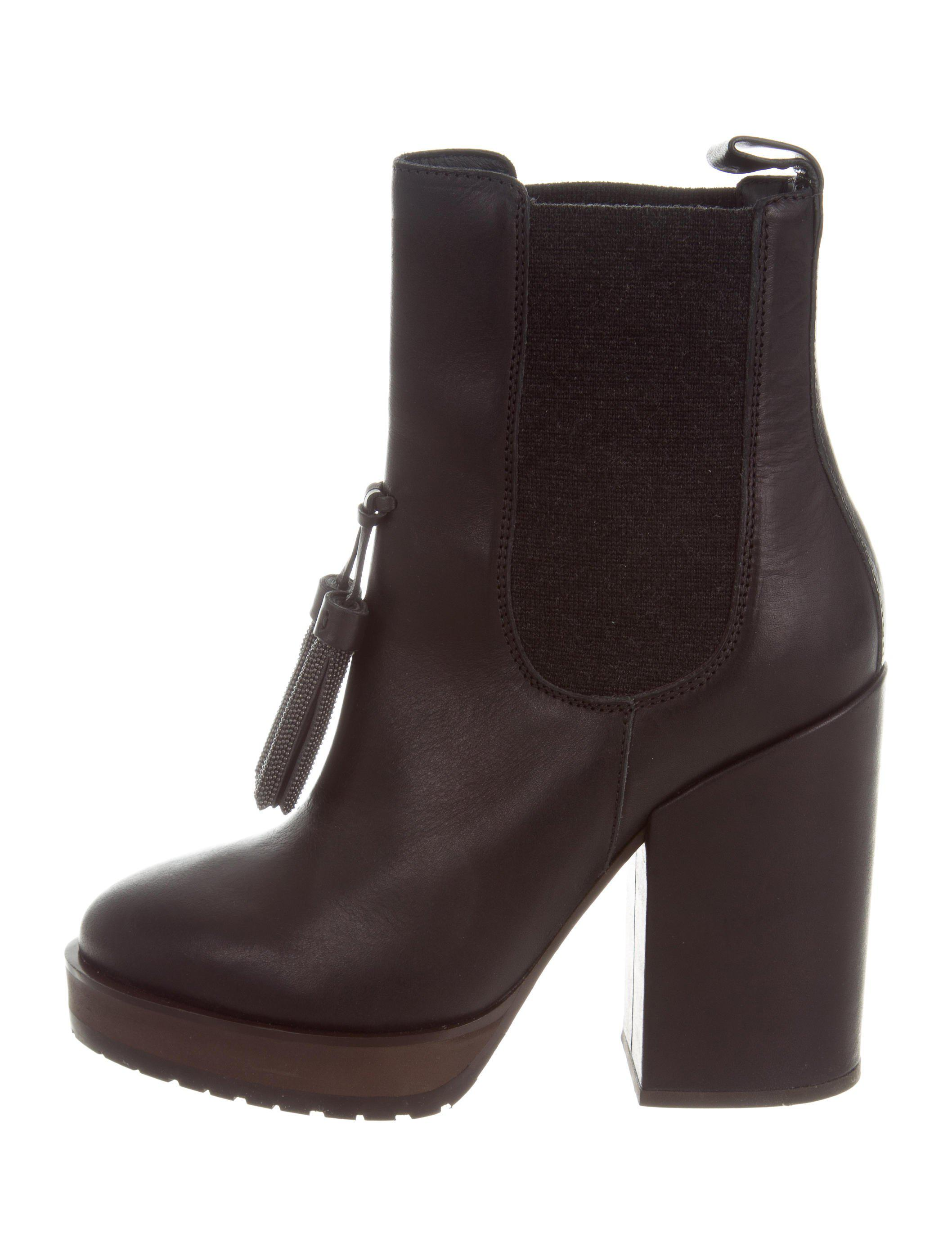 Brunello Cucinelli Leather Platform Ankle Boots w/ Tags purchase online iPoTjBzw