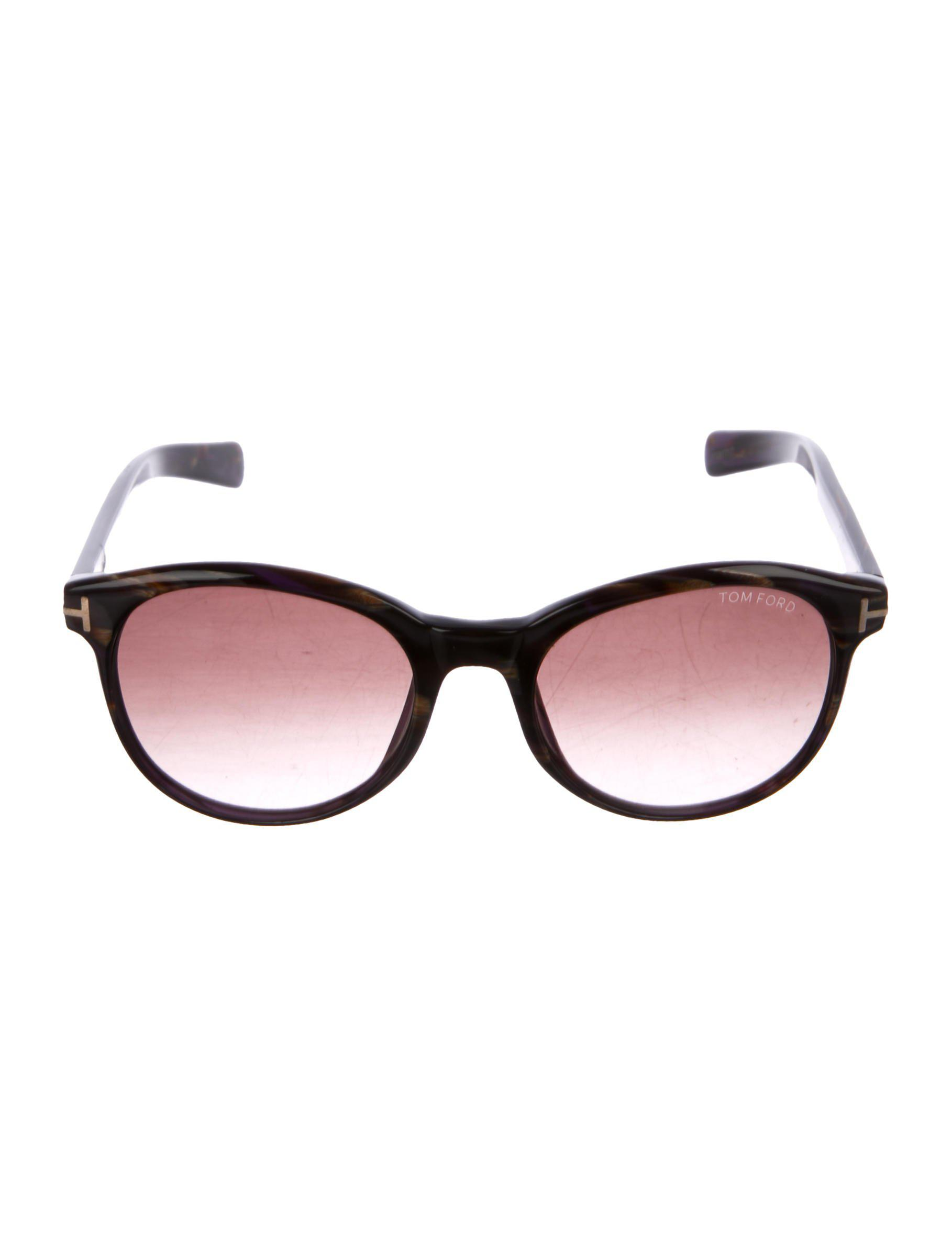 849432fe7497 Tom Ford - Metallic Riley Marbled Sunglasses Brown - Lyst. View fullscreen