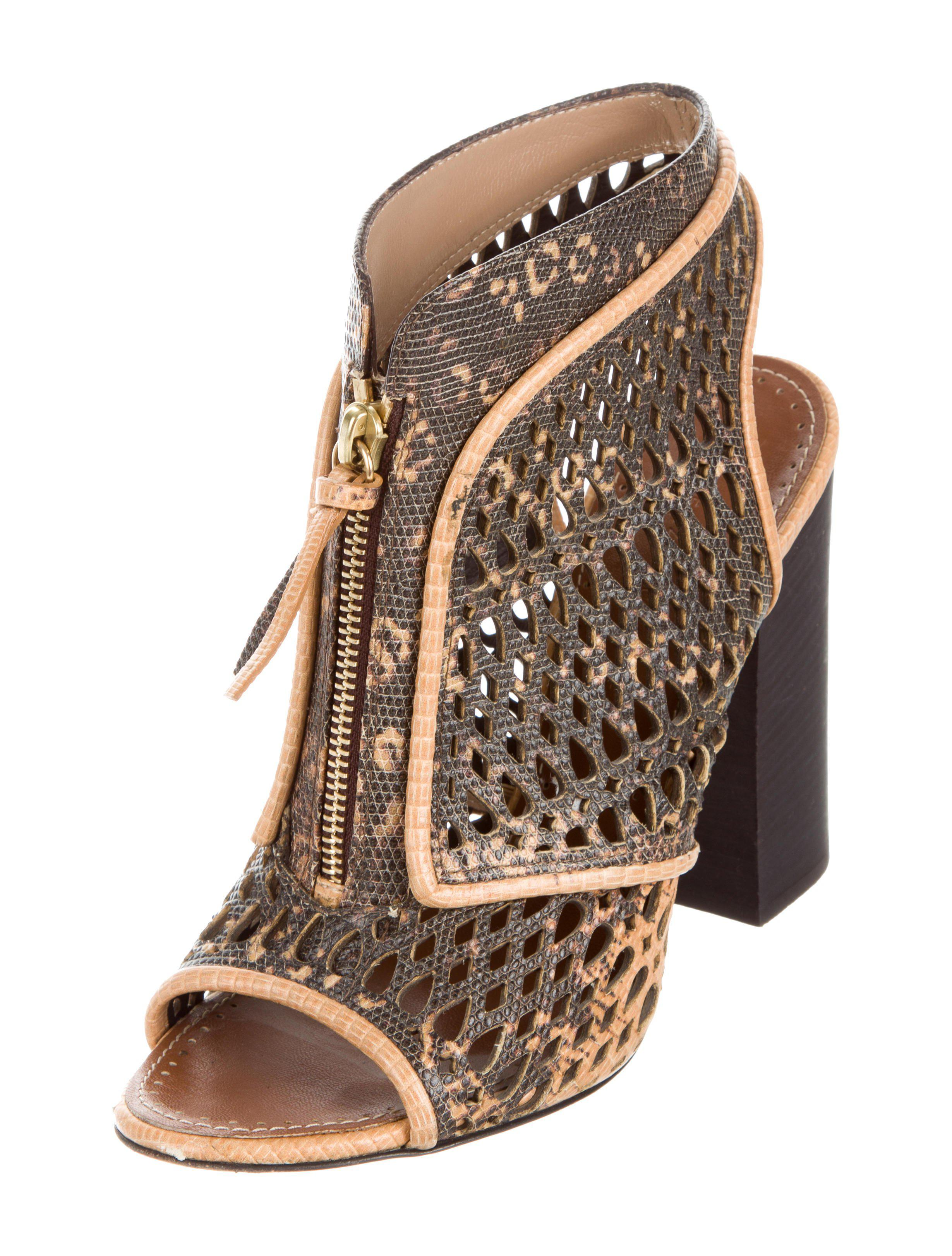 perfect cheap price Proenza Schouler Embossed Laser Cut Booties buy cheap with credit card R1gnI