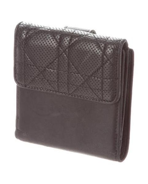 94ddf49f061 Lyst - Dior Embroidered Diorissimo Saddle Continental Wallet Brown ...
