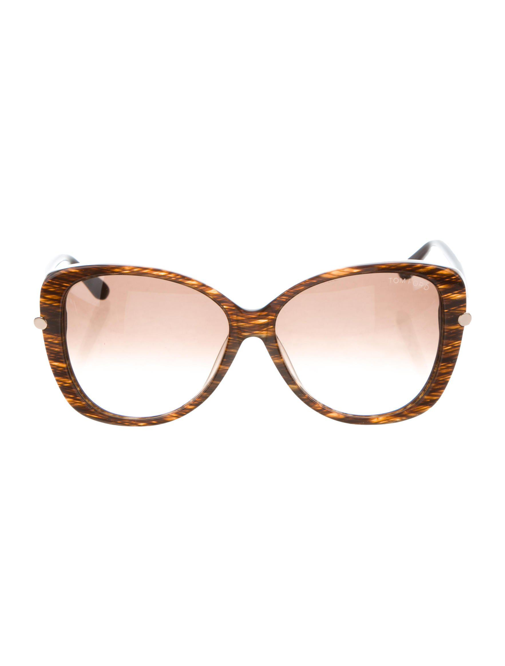 d1c064983887 Lyst - Tom Ford Linda Oversize Sunglasses W  Tags Brown in Metallic