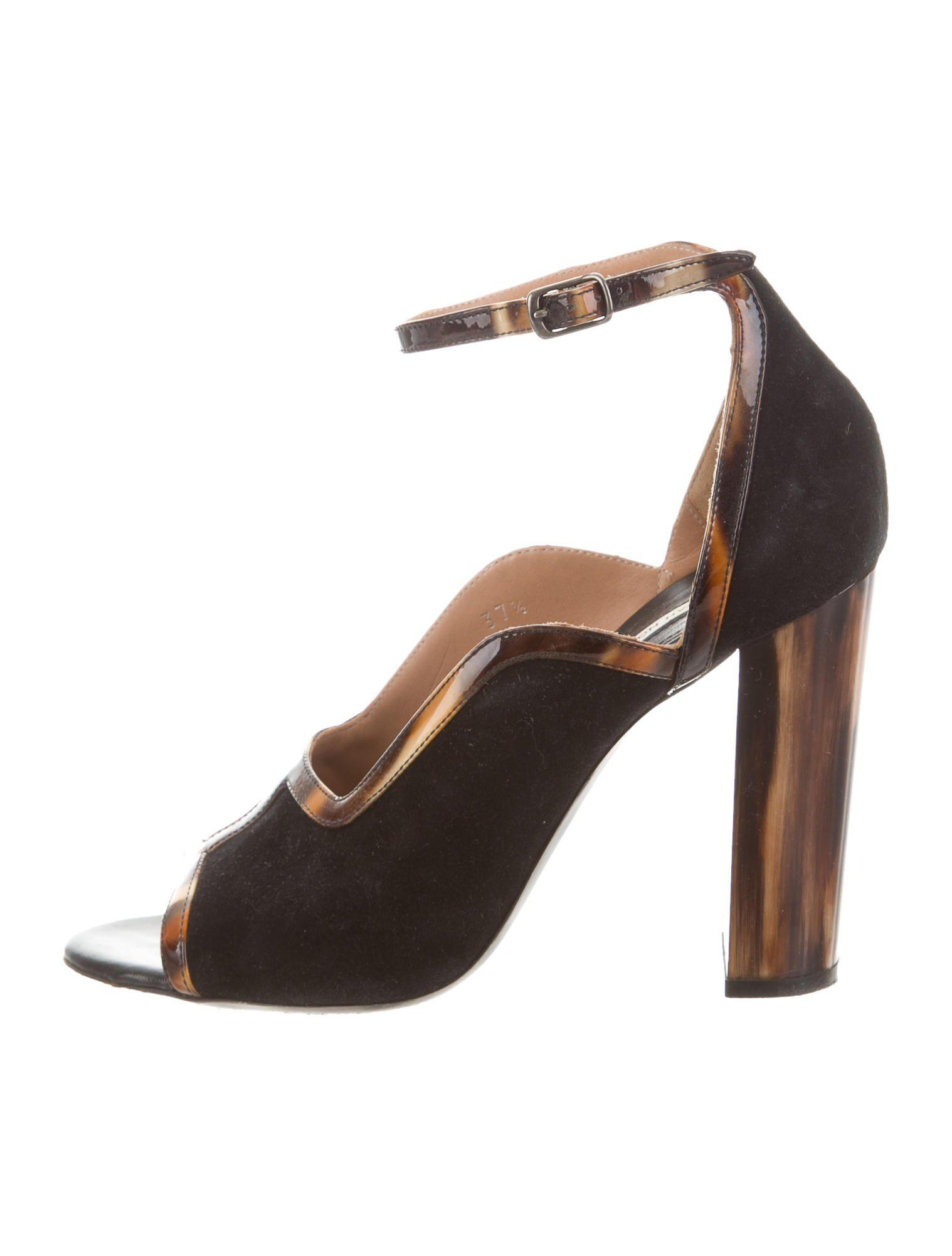 Dries Van Noten Suede Ankle-Strap Pumps cheap sale get authentic dN6OM0nA9I