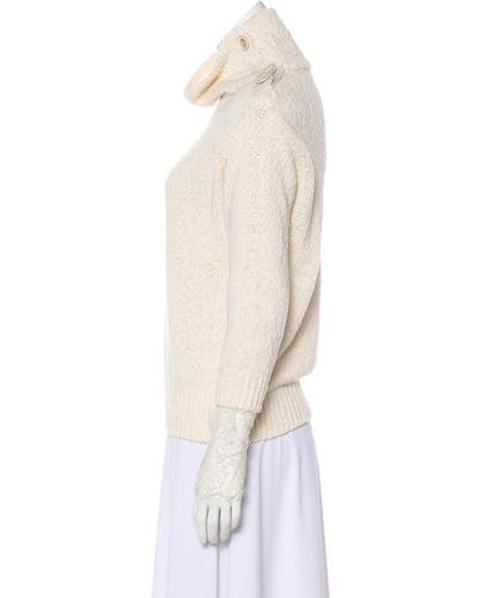 c89d29fcac Lyst - Brunello Cucinelli Lace-trimmed Knit Sweater in White