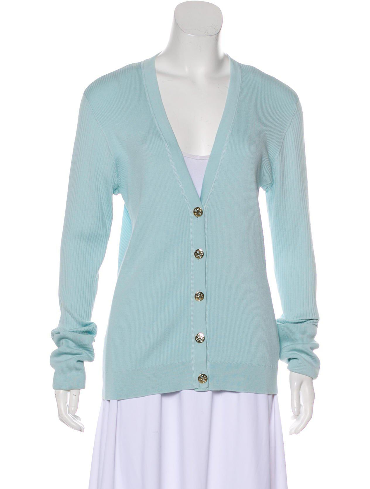 Tory Burch Long Sleeve Knit Cardigan Discount Purchase ToYjFDCQ8