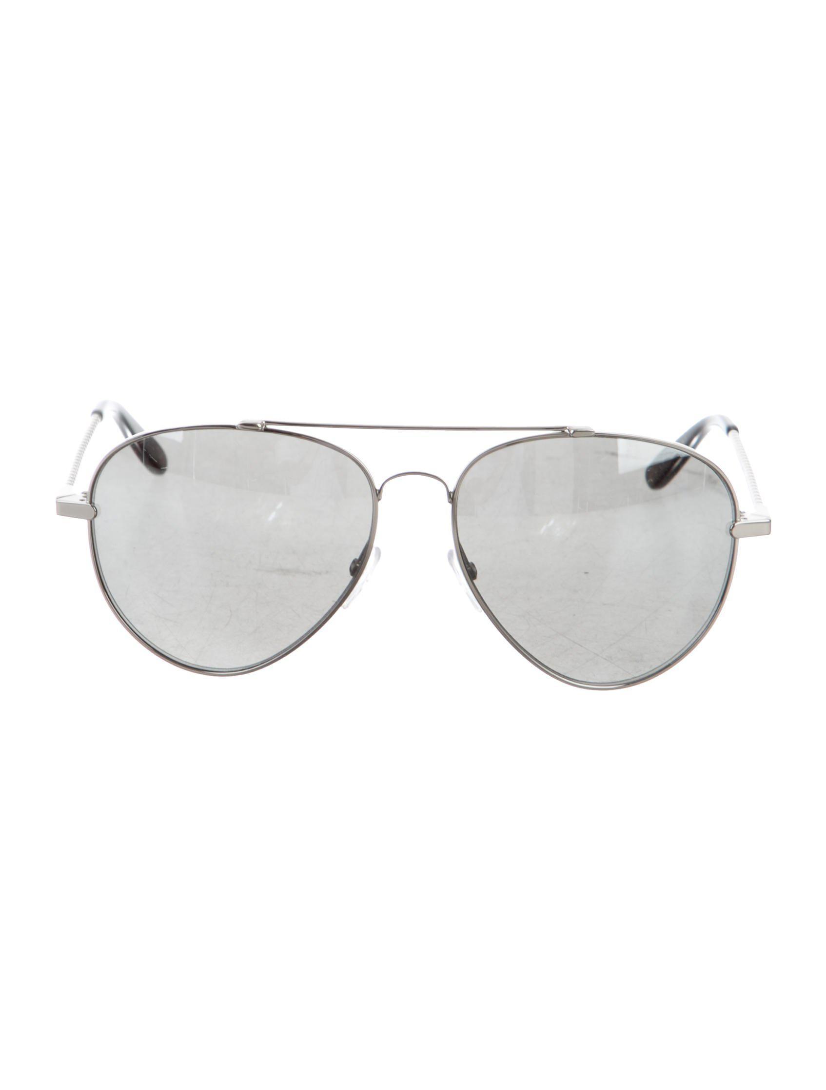 ec62166f931 Lyst - Bottega Veneta Aviator Sunglasses Silver in Metallic