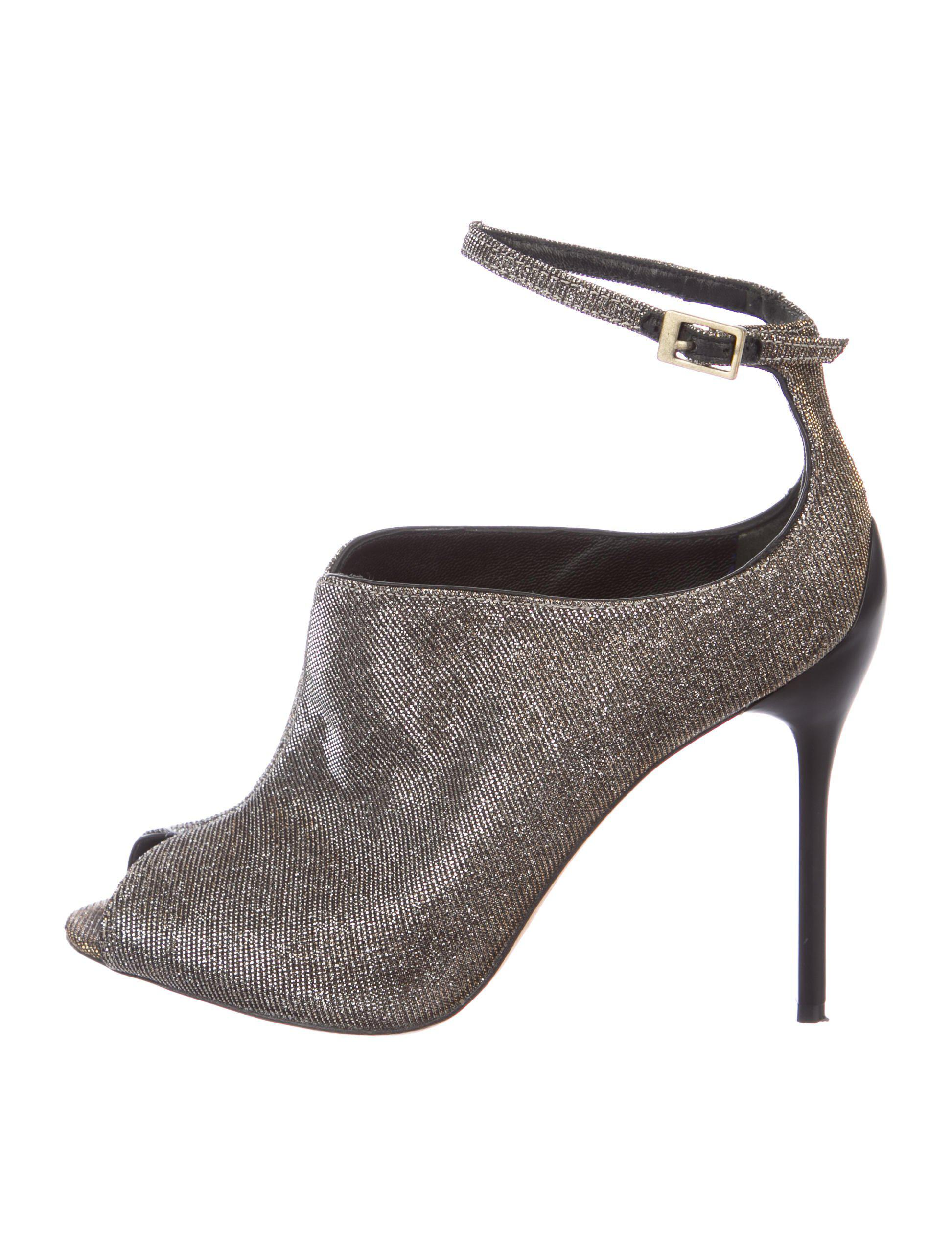 B Brian Atwood Metallic Peep-Toe Booties tumblr sale online discount best place with credit card cheap price jnh87