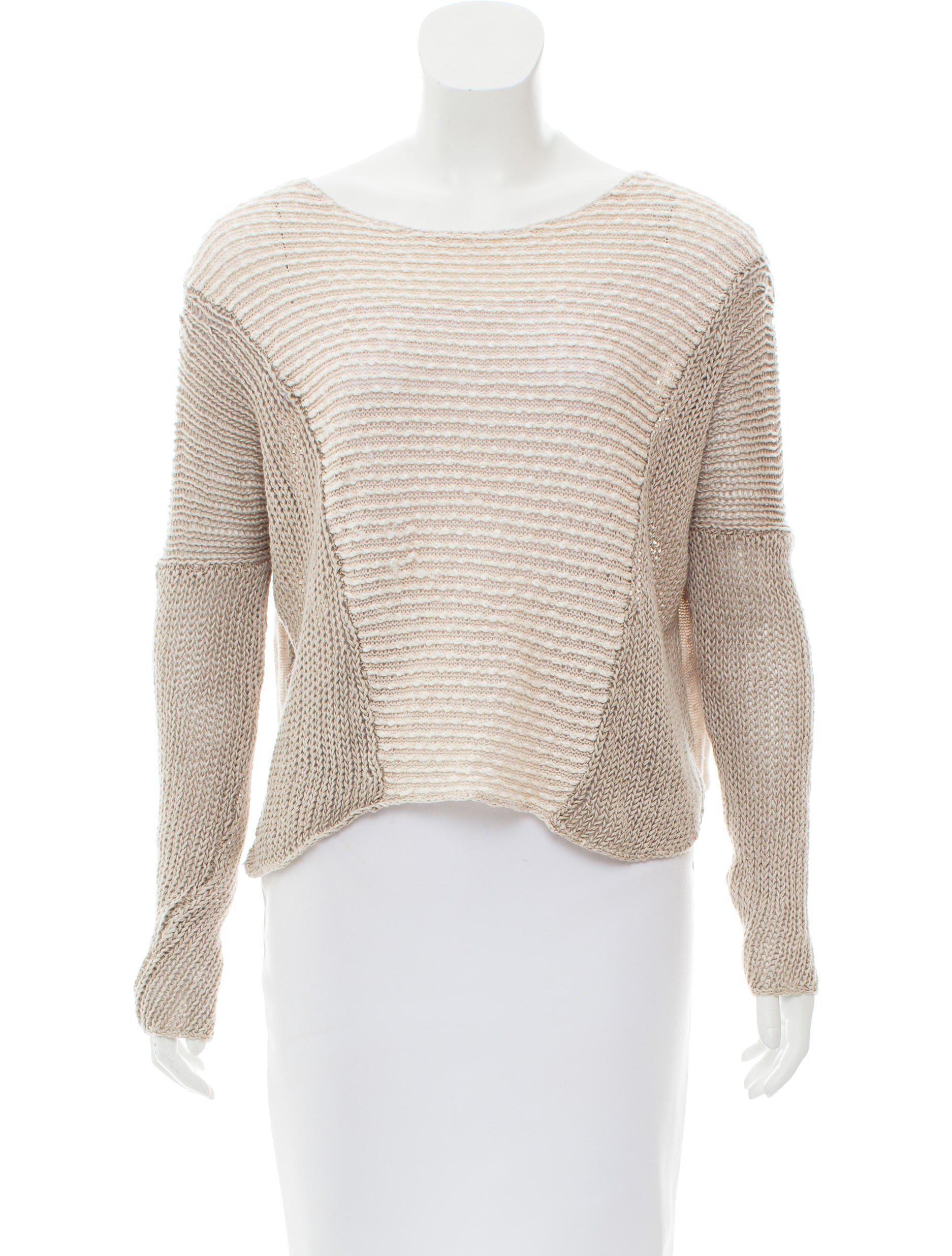 255551a13904dd Lyst - Helmut Lang High-low Linen Sweater Beige in Natural