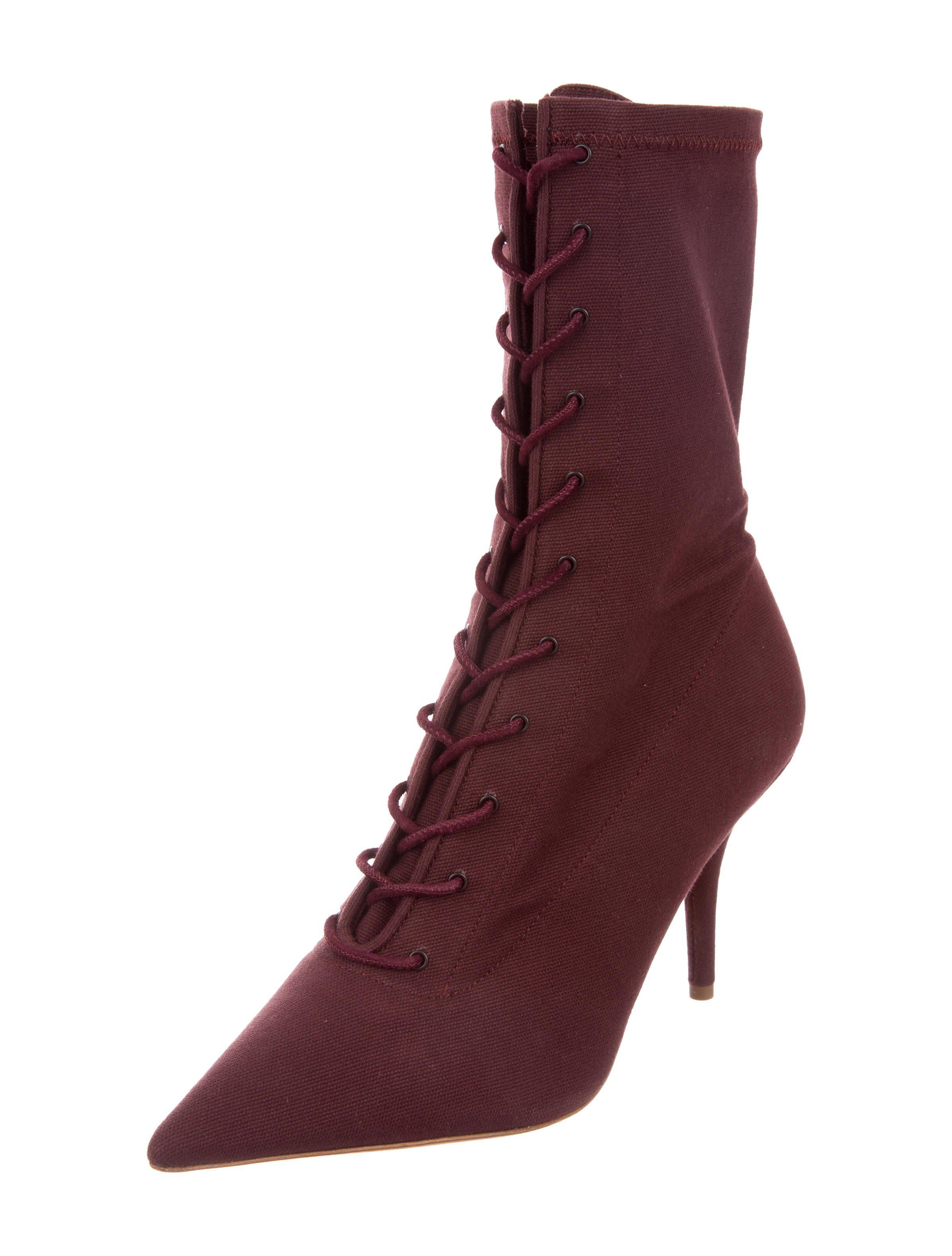 818b1e3544dc1 Lyst - Yeezy Season 5 Ankle Boots W  Tags Burgundy in Red