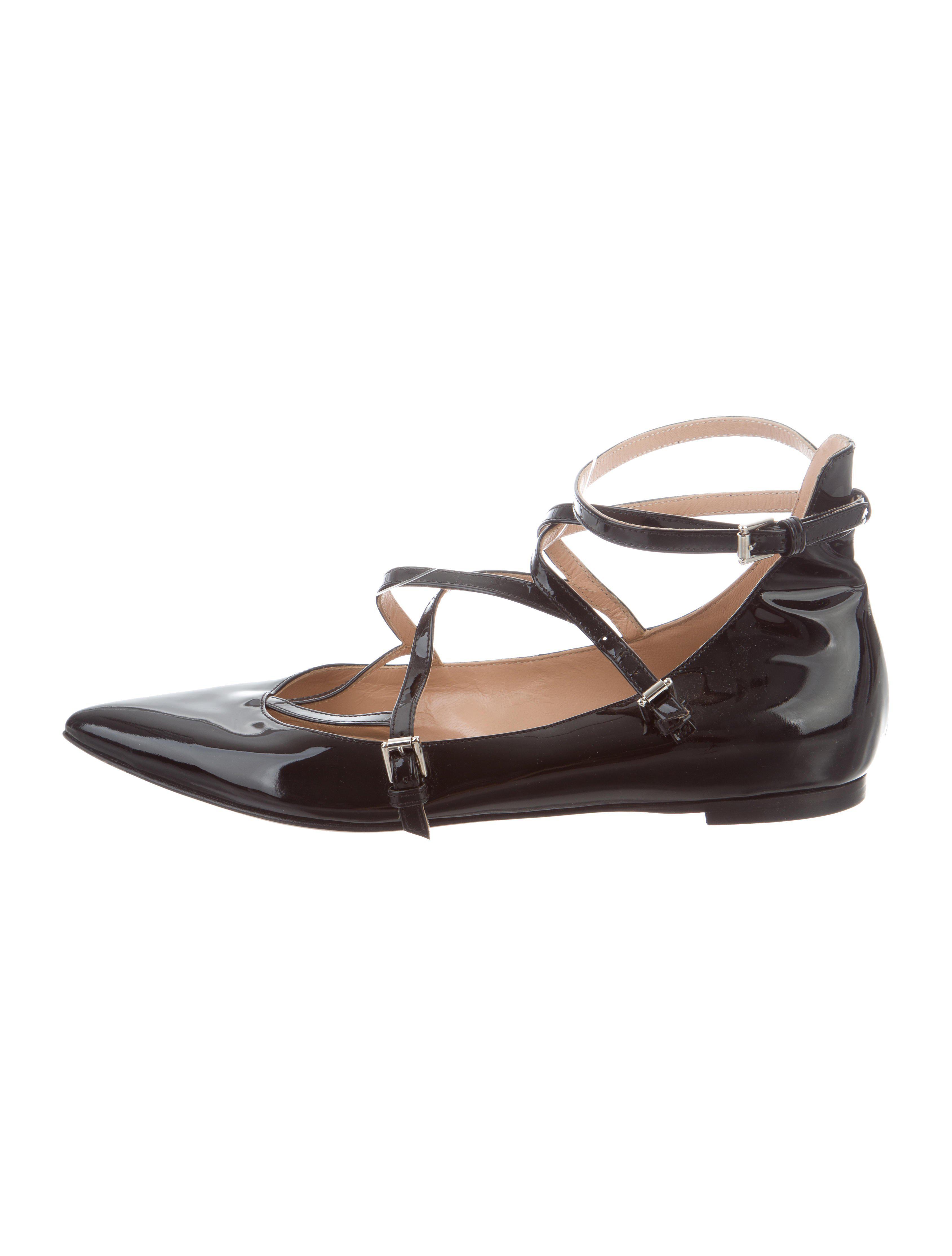 Gianvito Rossi Patent Leather Slingback Flats discount price GlNDf