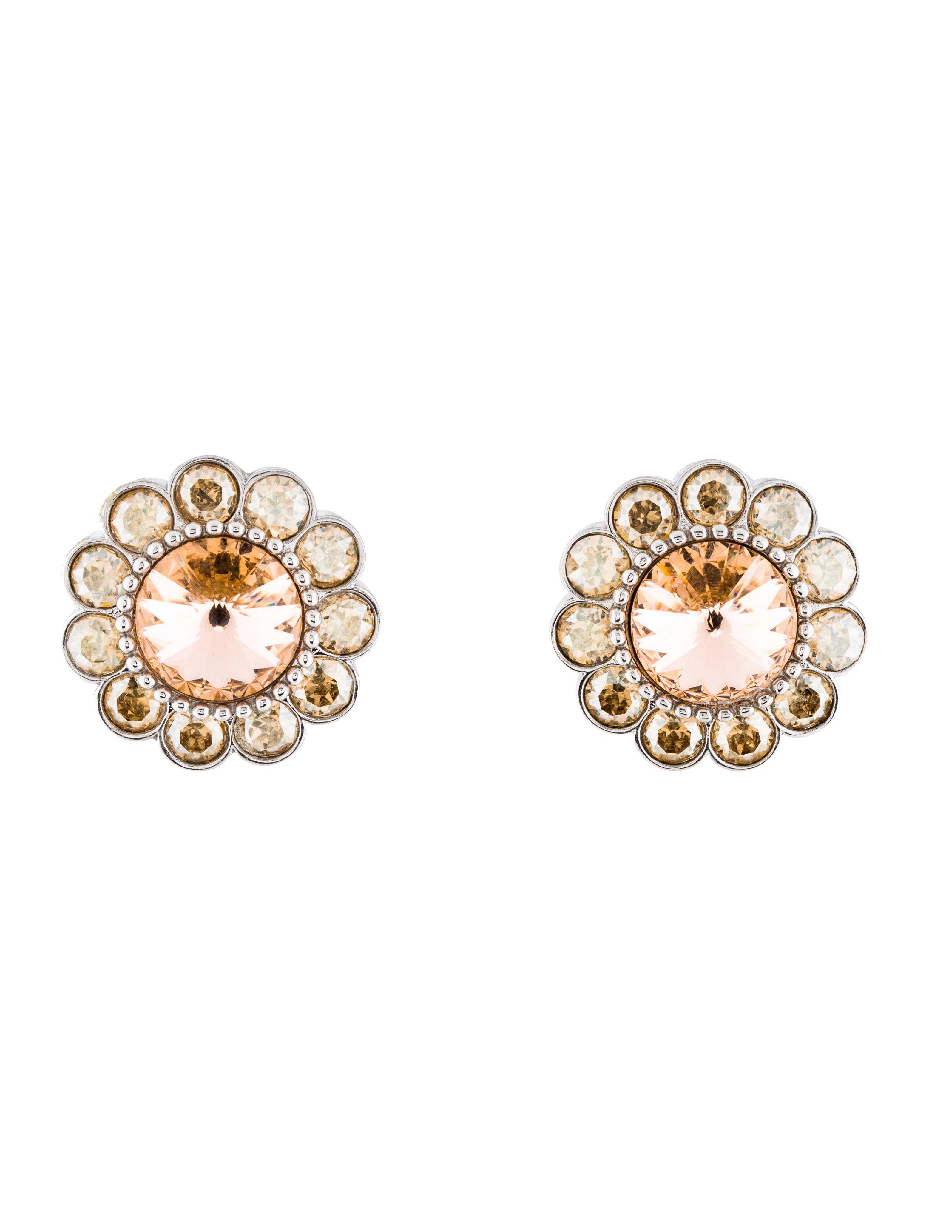drop clip-on earrings - Metallic Miu Miu VoTBG