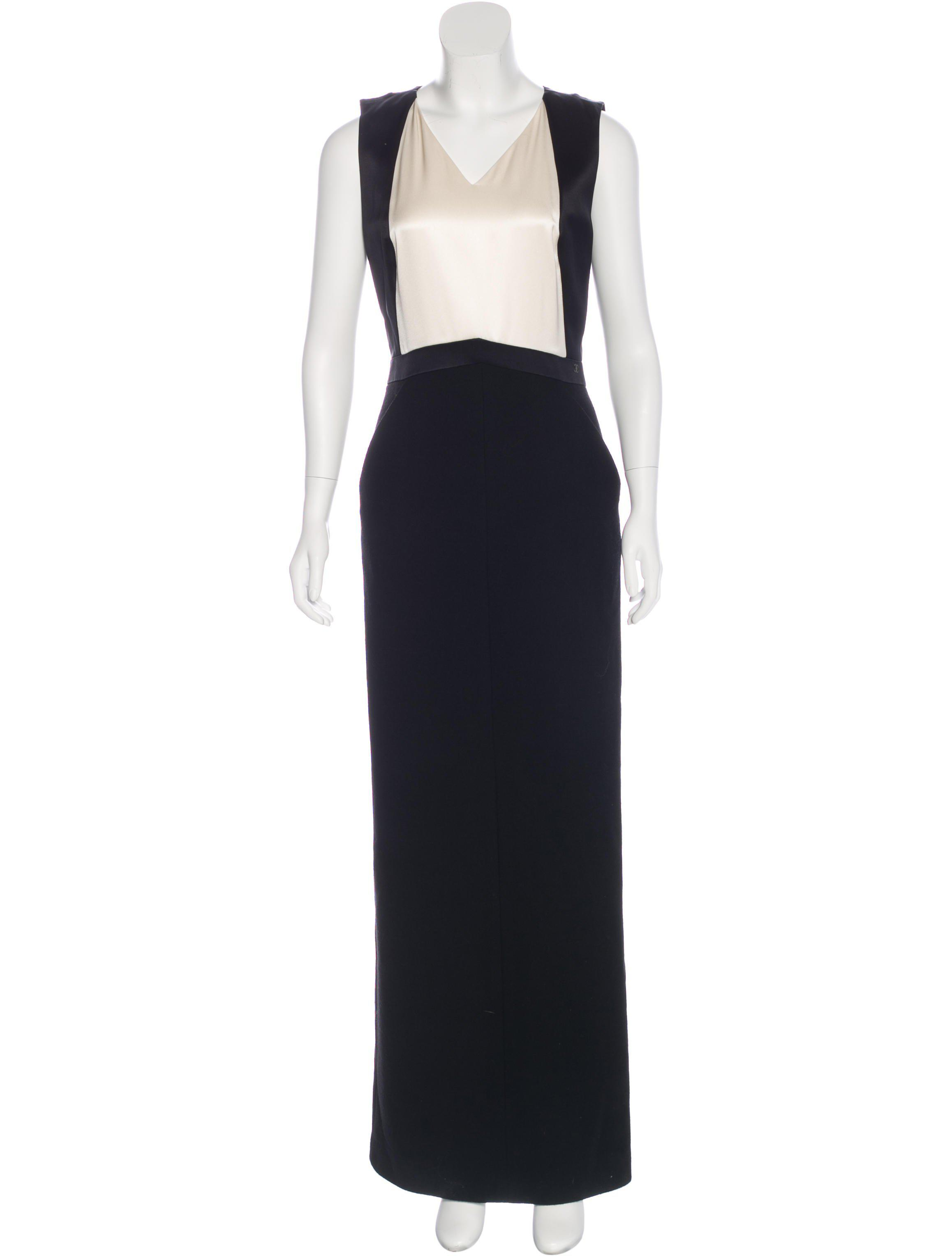 Lyst - Chanel Wool Evening Gown in White