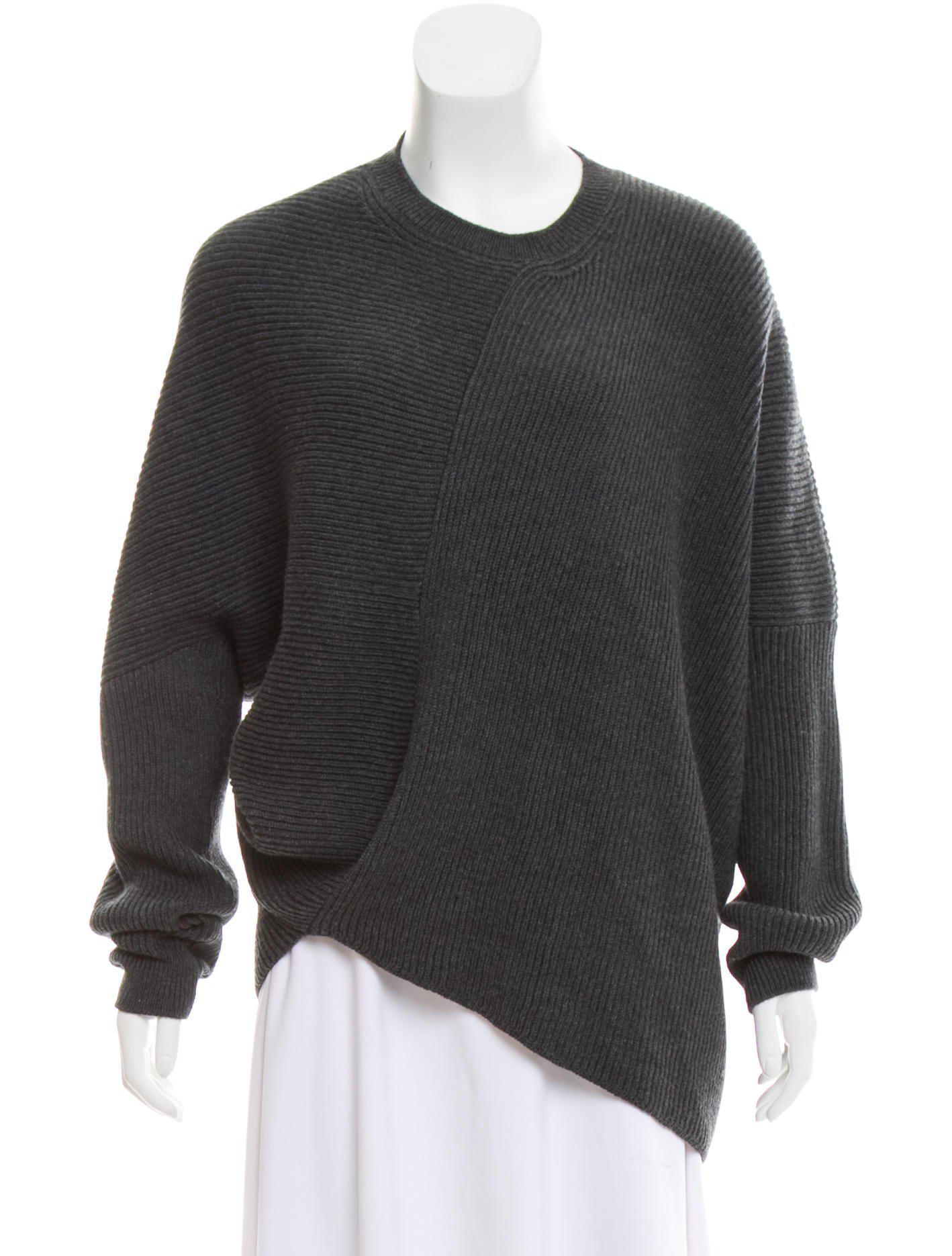 11f0ee130ae Lyst - Stella Mccartney Wool Rib Knit Sweater Grey in Gray