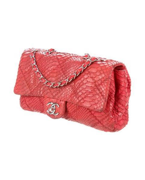 186f412386e5ef Chanel - Metallic Python Ultimate Stitch Flap Bag Red - Lyst. View  fullscreen