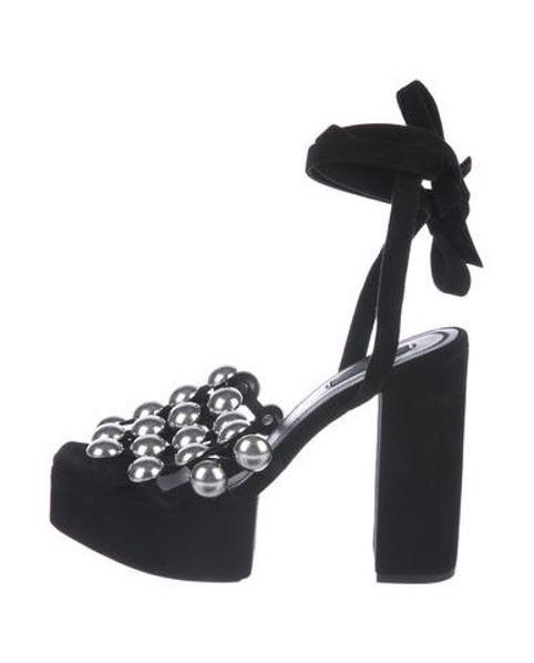 517cbc6843b Lyst - Alexander Wang Studded Platform Sandals Black in Metallic