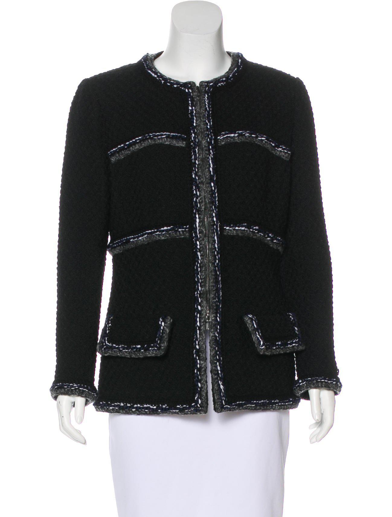 Chanel black jacket 2017