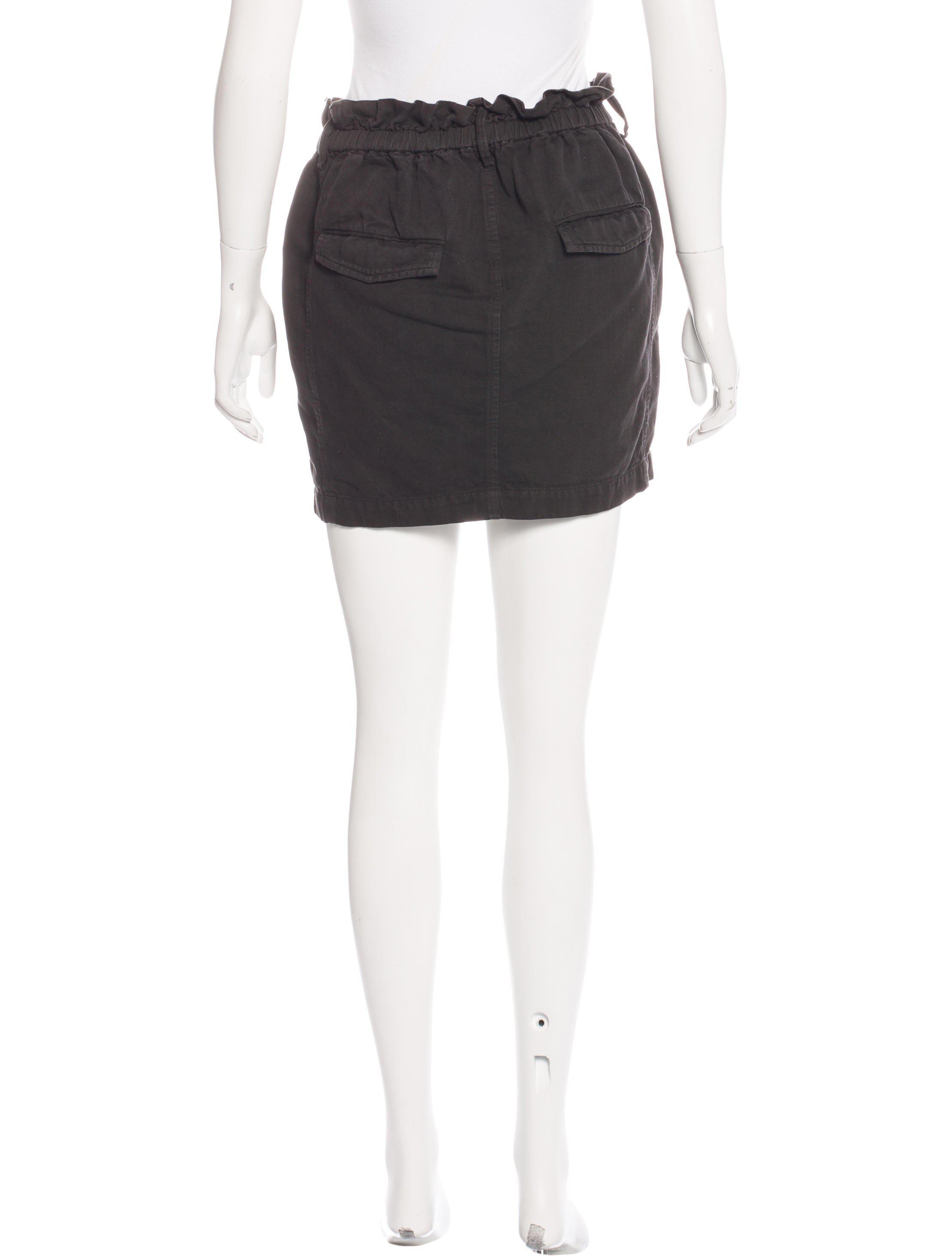 7249e86708 Lyst - Étoile Isabel Marant Chambray Mini Skirt in Black