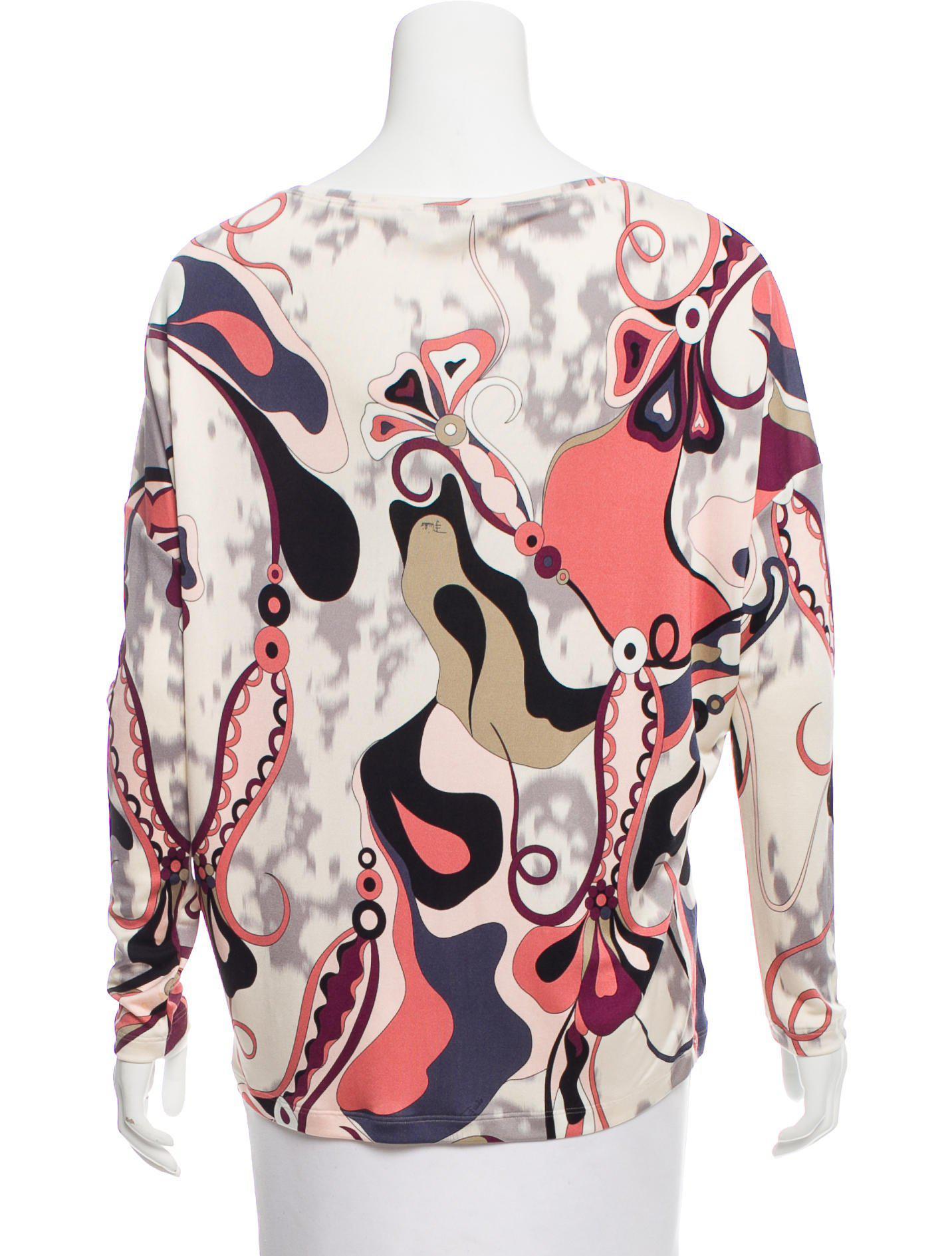 Emilio Pucci Woman Tie-front Crepe Top Plum Size 40 Emilio Pucci Clearance Outlet w4Fyu