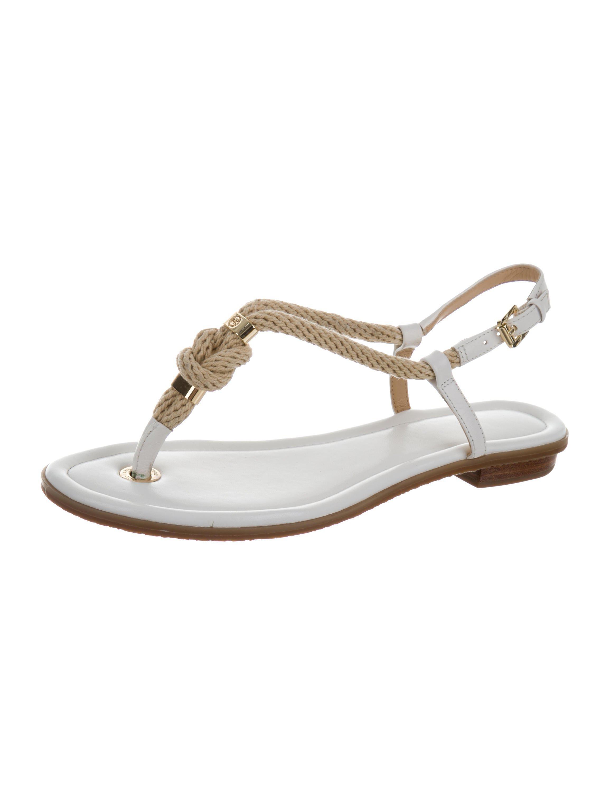 c310faf67e17 Michael Kors - Metallic Logo Thong Sandals White - Lyst. View fullscreen