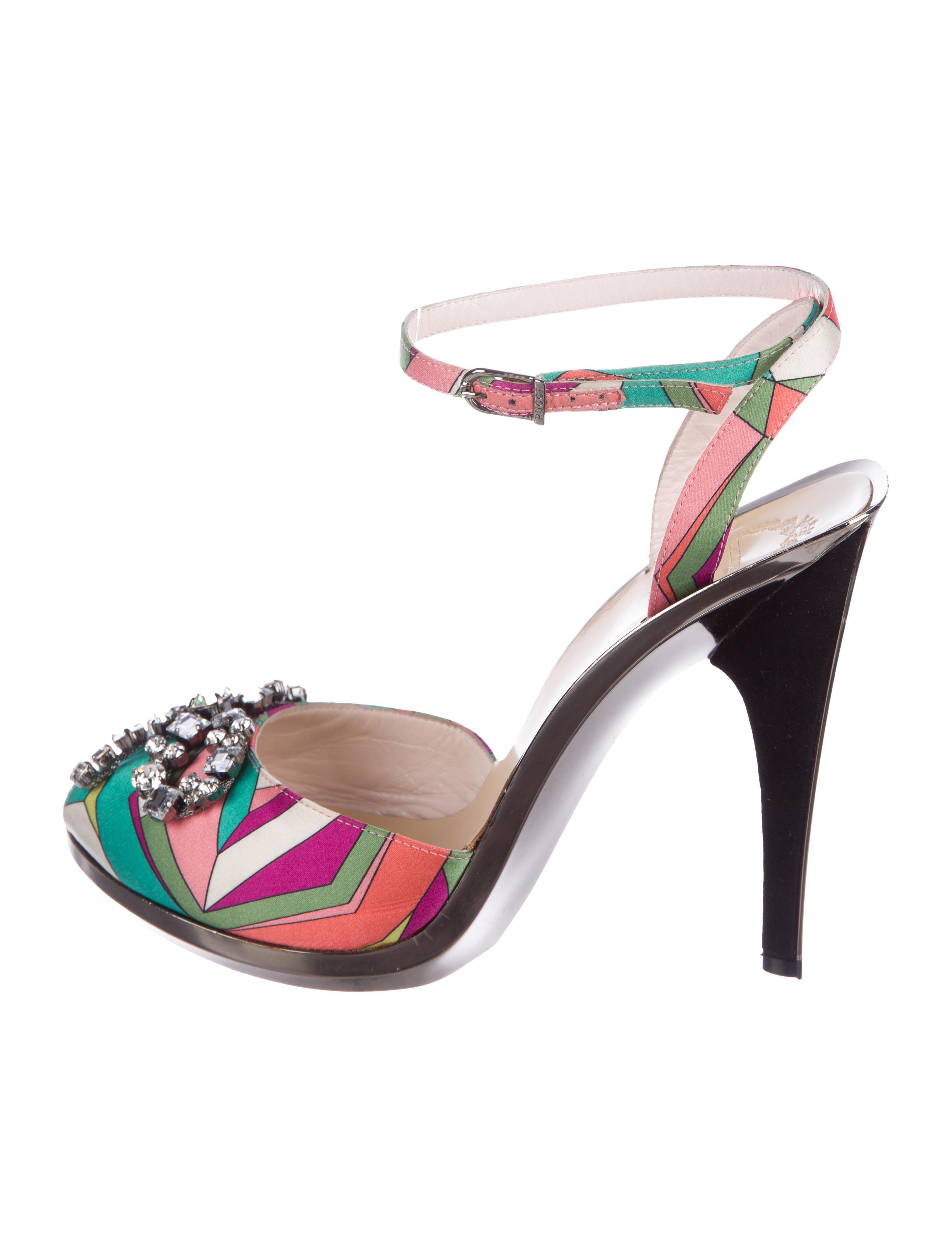 Emilio Pucci Embellished Slingback Pumps deals sale online cwpYf1ID91