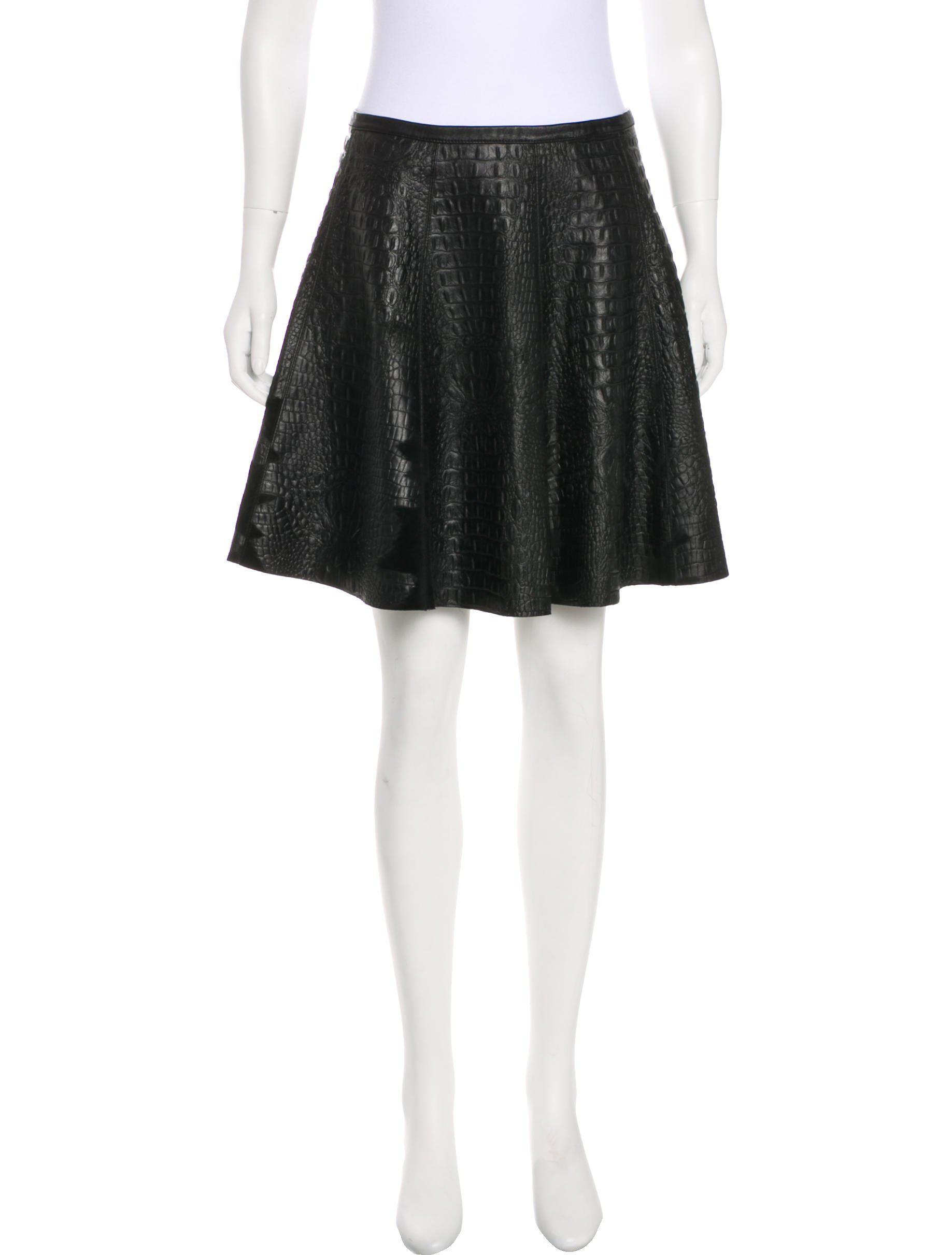 1bf74ee2c0 Lyst - Sachin & Babi Leather Embossed Skirt in Black