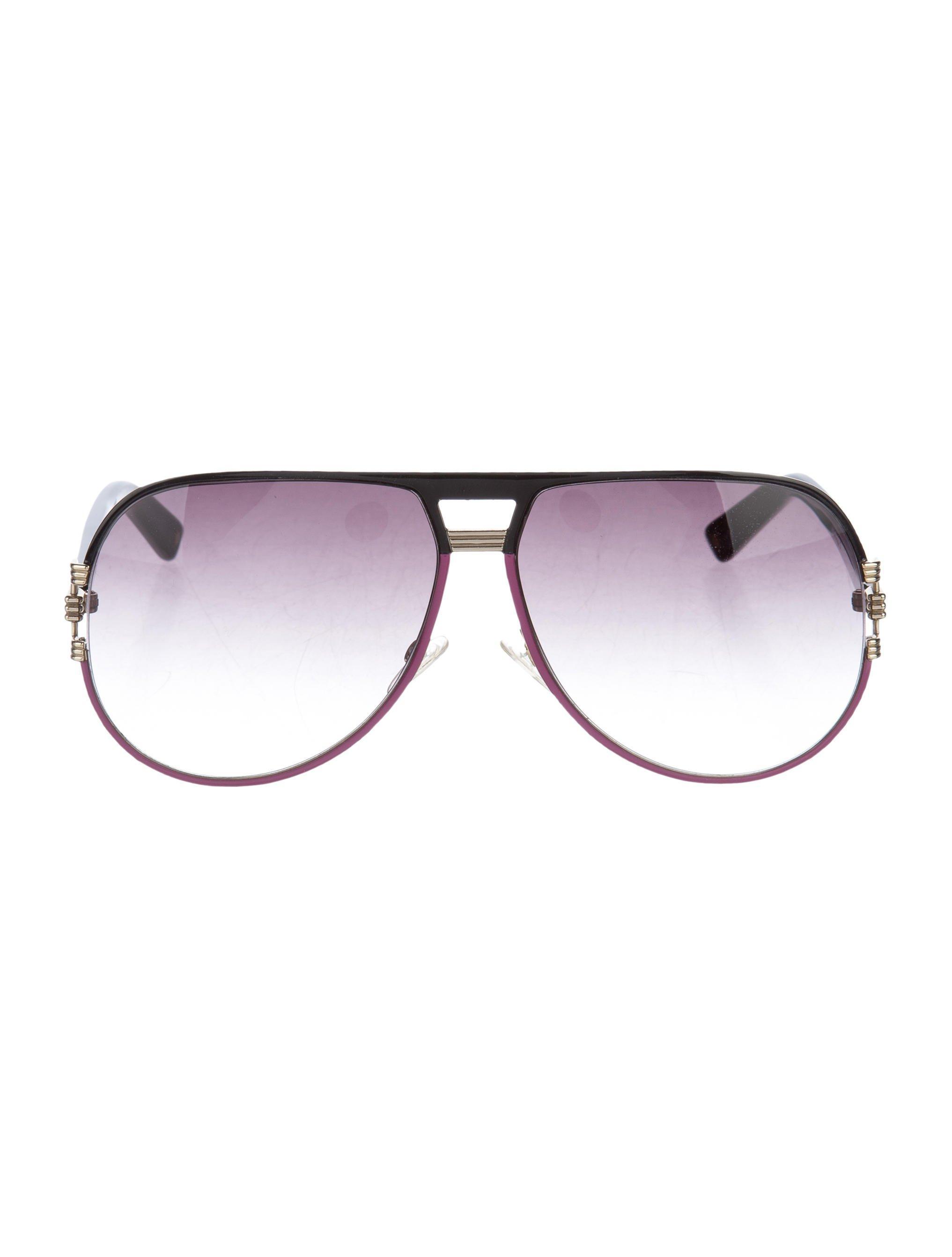 cf276fc6af98 Lyst - Dior Graphix 2 Aviator Sunglasses Gold in Metallic