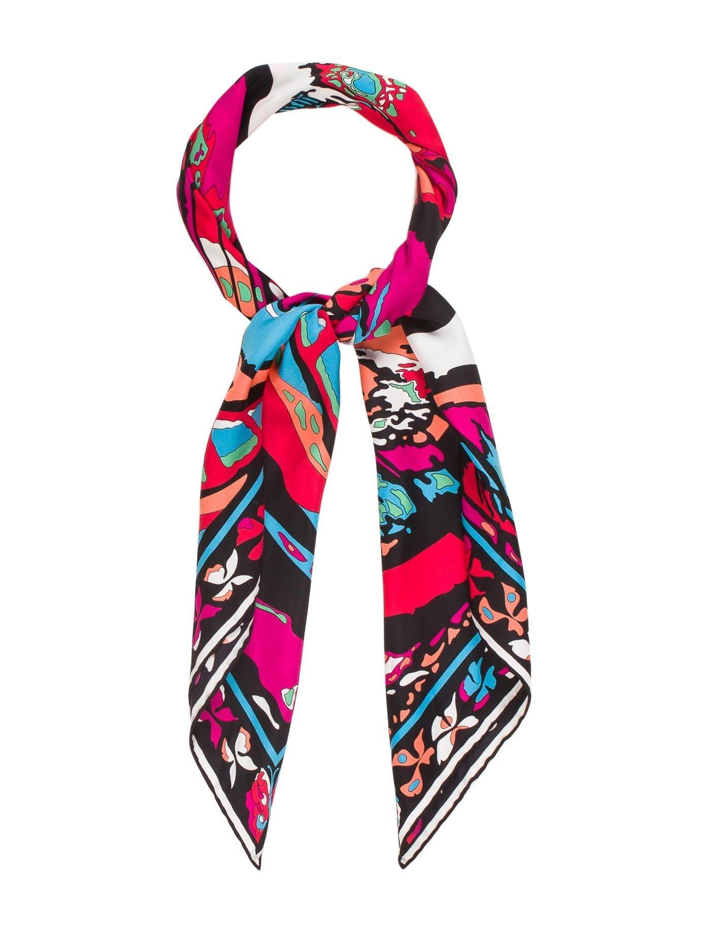 Fuchsia and aquamarine Moscardino scarf Pinko hzI1u6SX