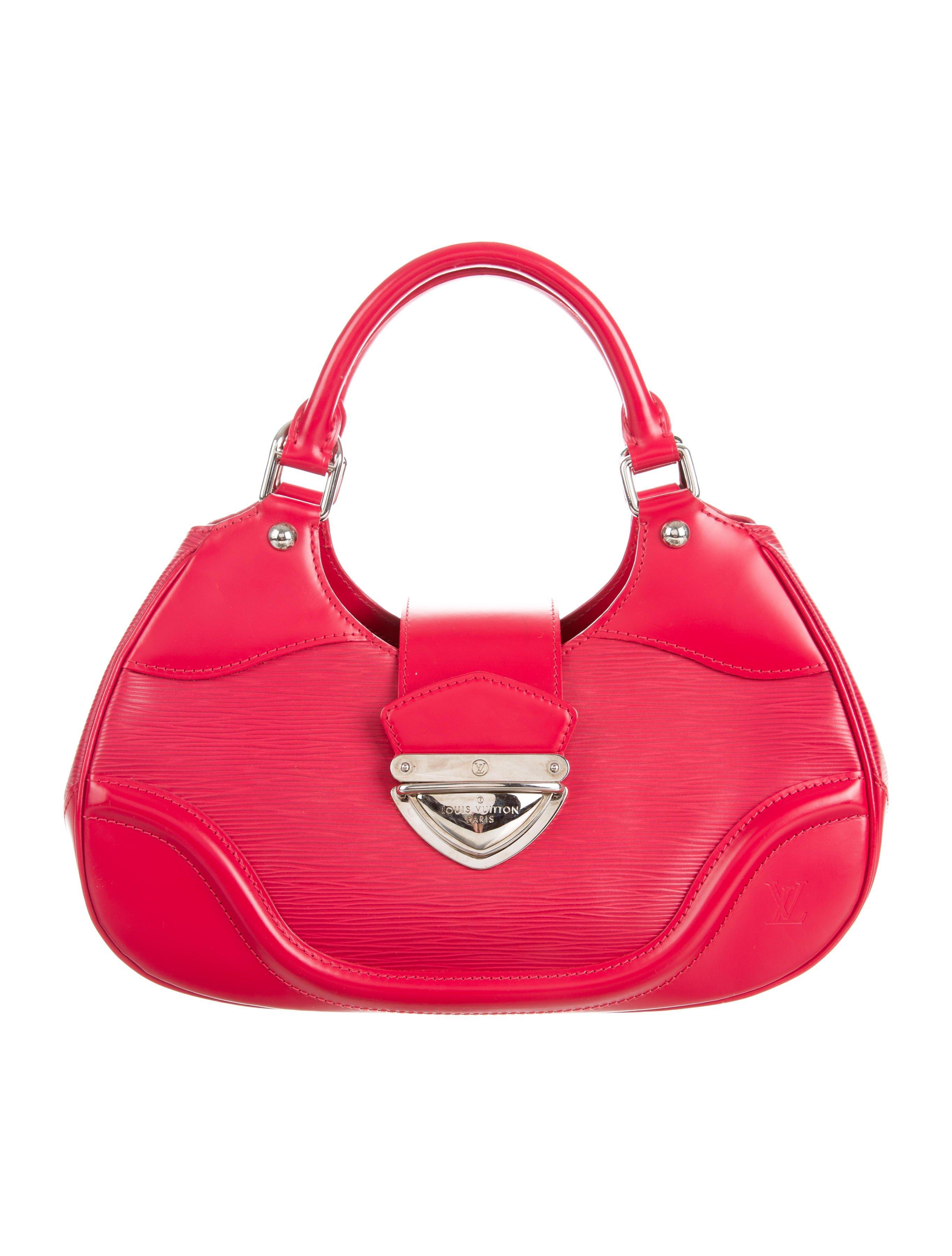 Lyst - Louis Vuitton Epi Sac Montaigne Red in Metallic 19ca457f0f236