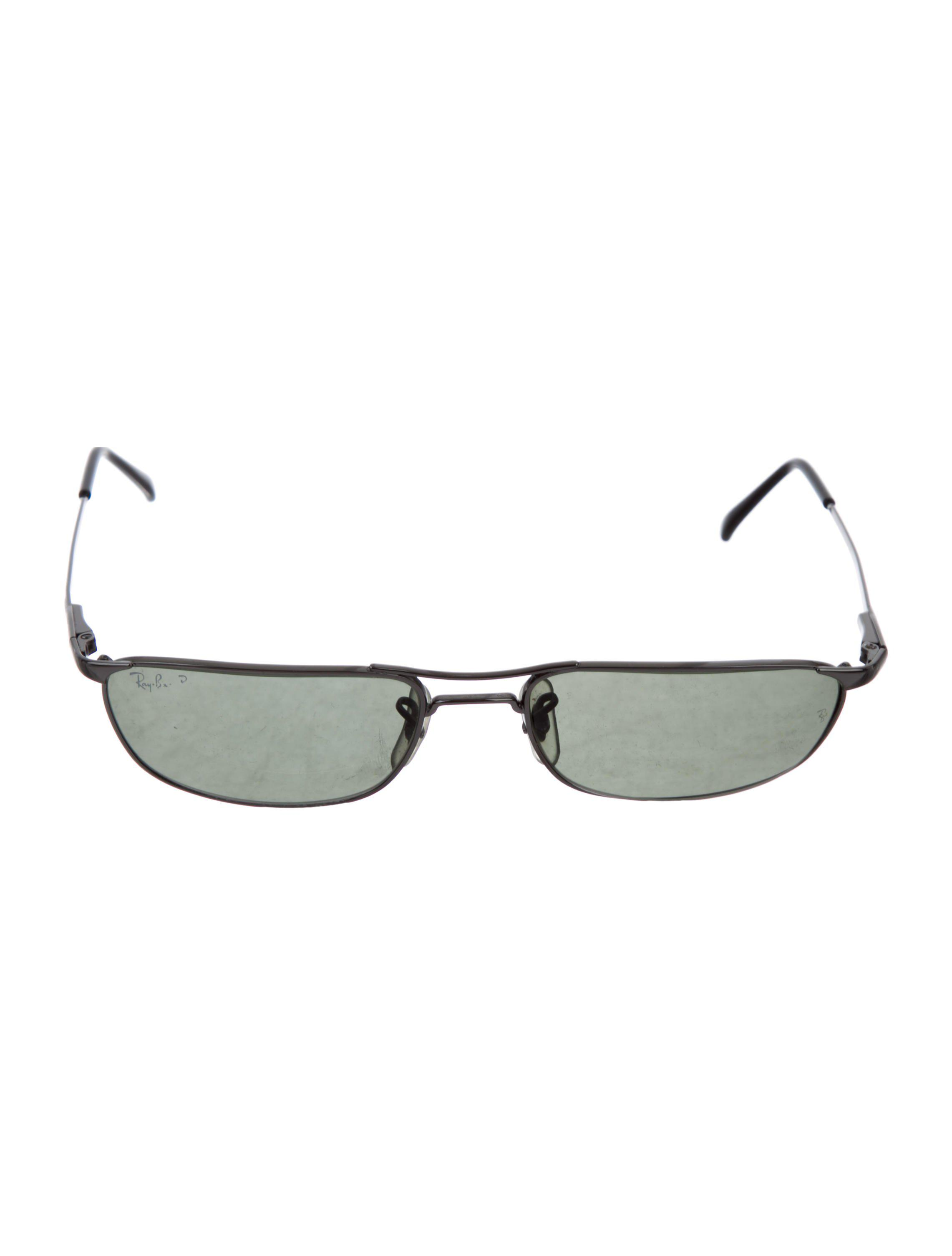 1c5c25a0ec ... shopping ray ban. womens natural polarized rectangular sunglasses  silver 56477 37010