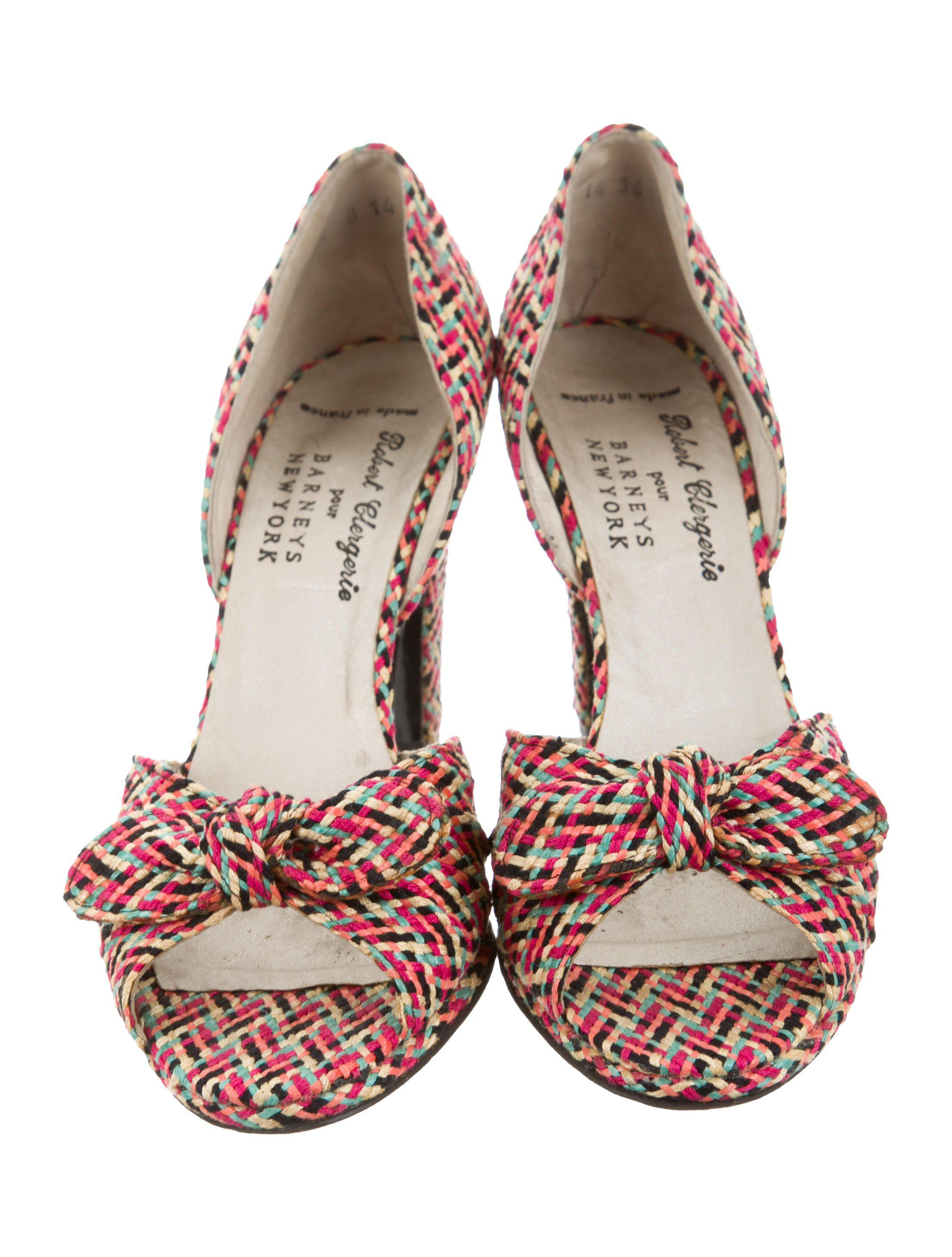 wiki online discount wholesale price Robert Clergerie Clergerie Paris Bow-Accented d'Orsay Sandals ecn878dcW0