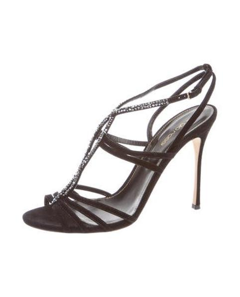 f335449f9063 lyst – sergio rossi bess strass sandals black in metallic. Download Image  482 X 598