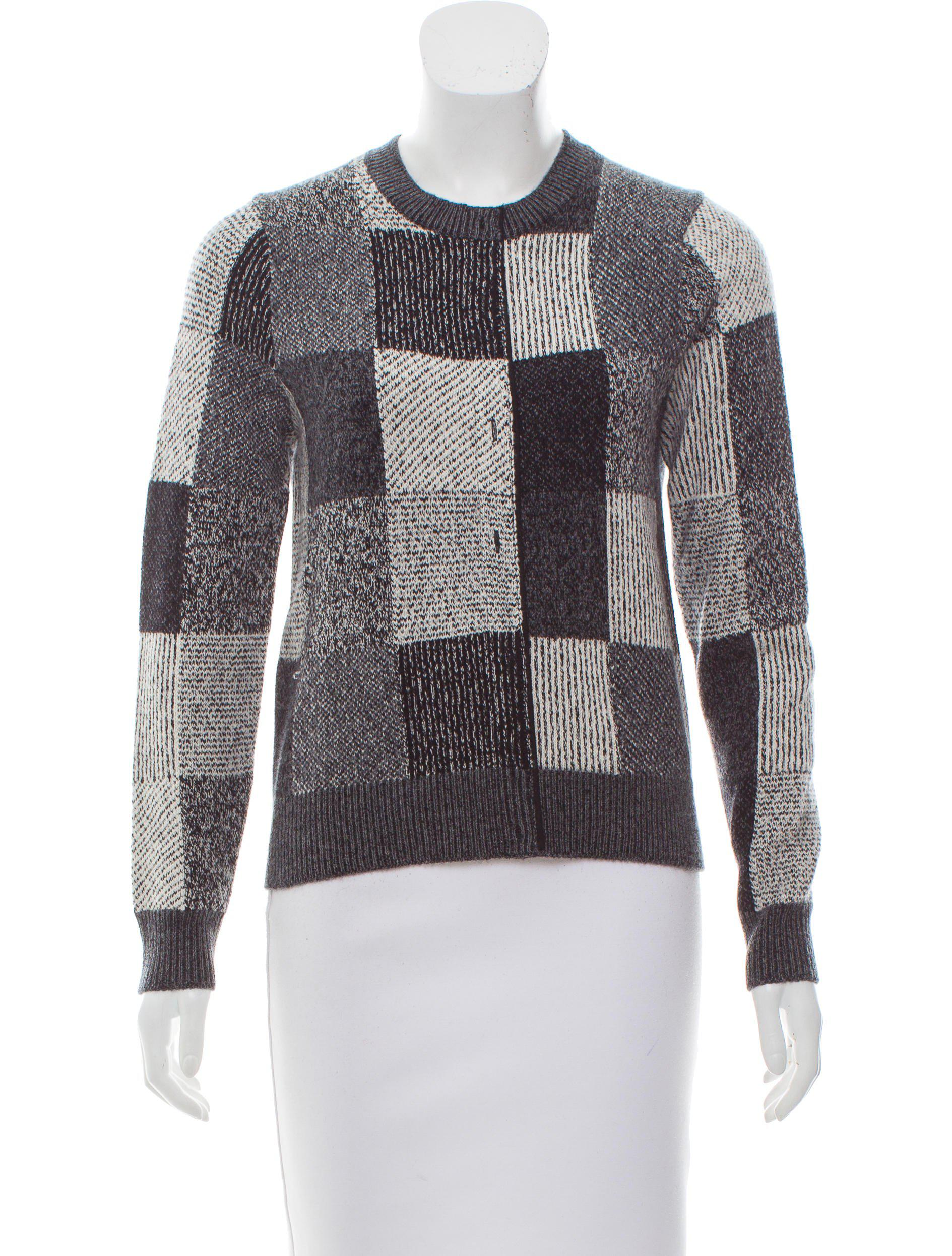 Marc jacobs Patterned Cashmere Sweater in Black | Lyst