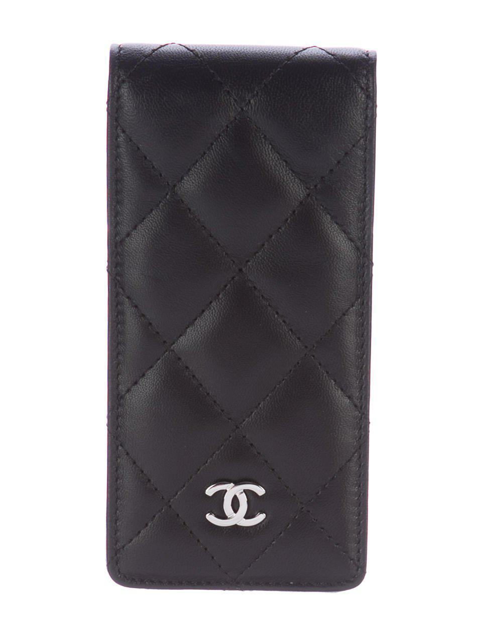 aed3bc1ce48e Chanel Quilted Iphone Case Black in Metallic | Lyst