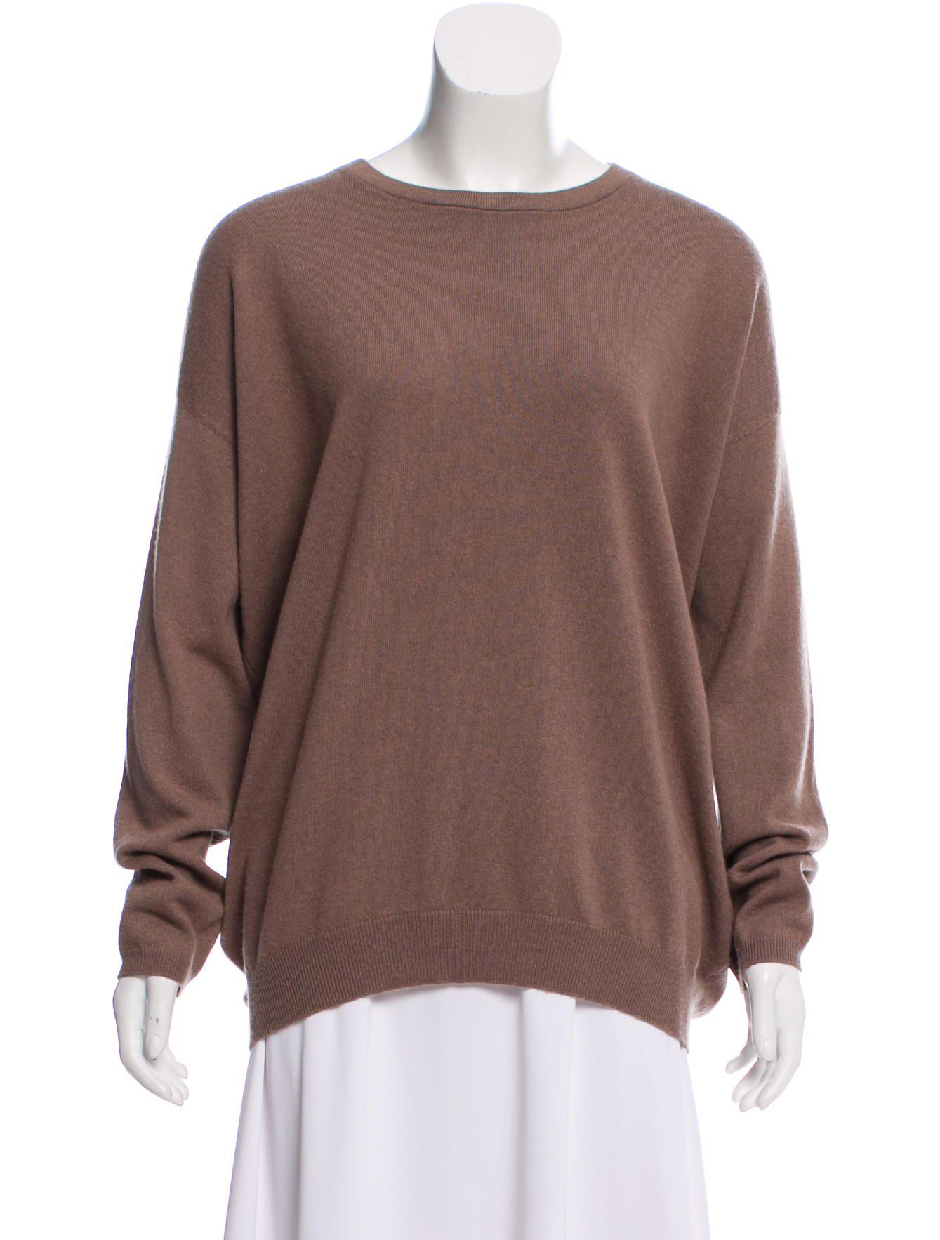 76599f7309 Lyst - Brunello Cucinelli Cashmere Long Sleeve Sweater in Brown