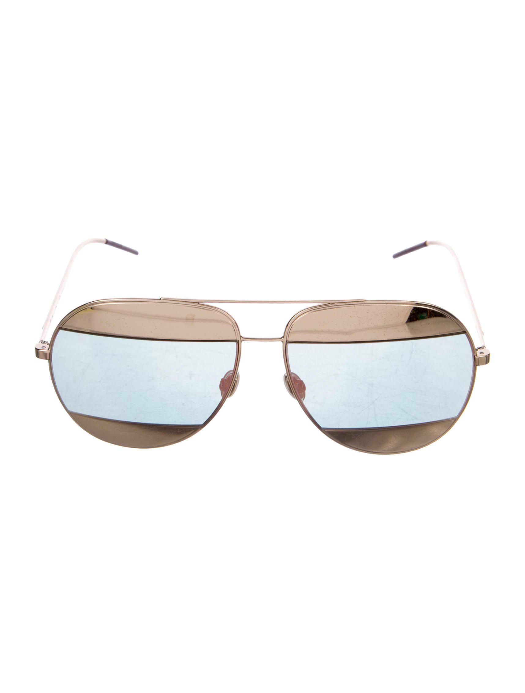 c804d23b22703 Lyst - Dior Split 1 Aviator Sunglasses Rose in Metallic