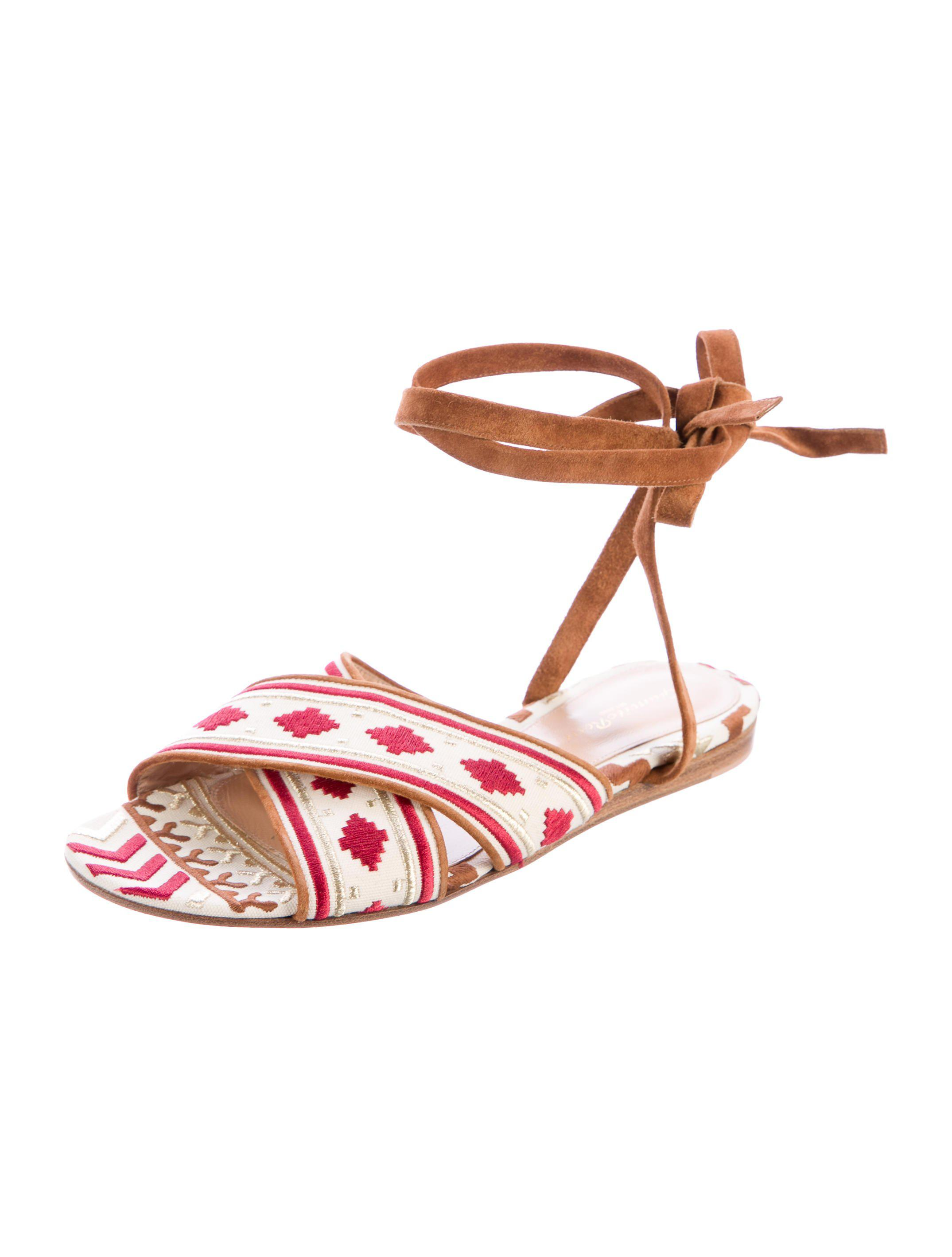 shop for online Gianvito Rossi Cheyenne Wrap-Around Sandals Manchester cheap price EYD6O