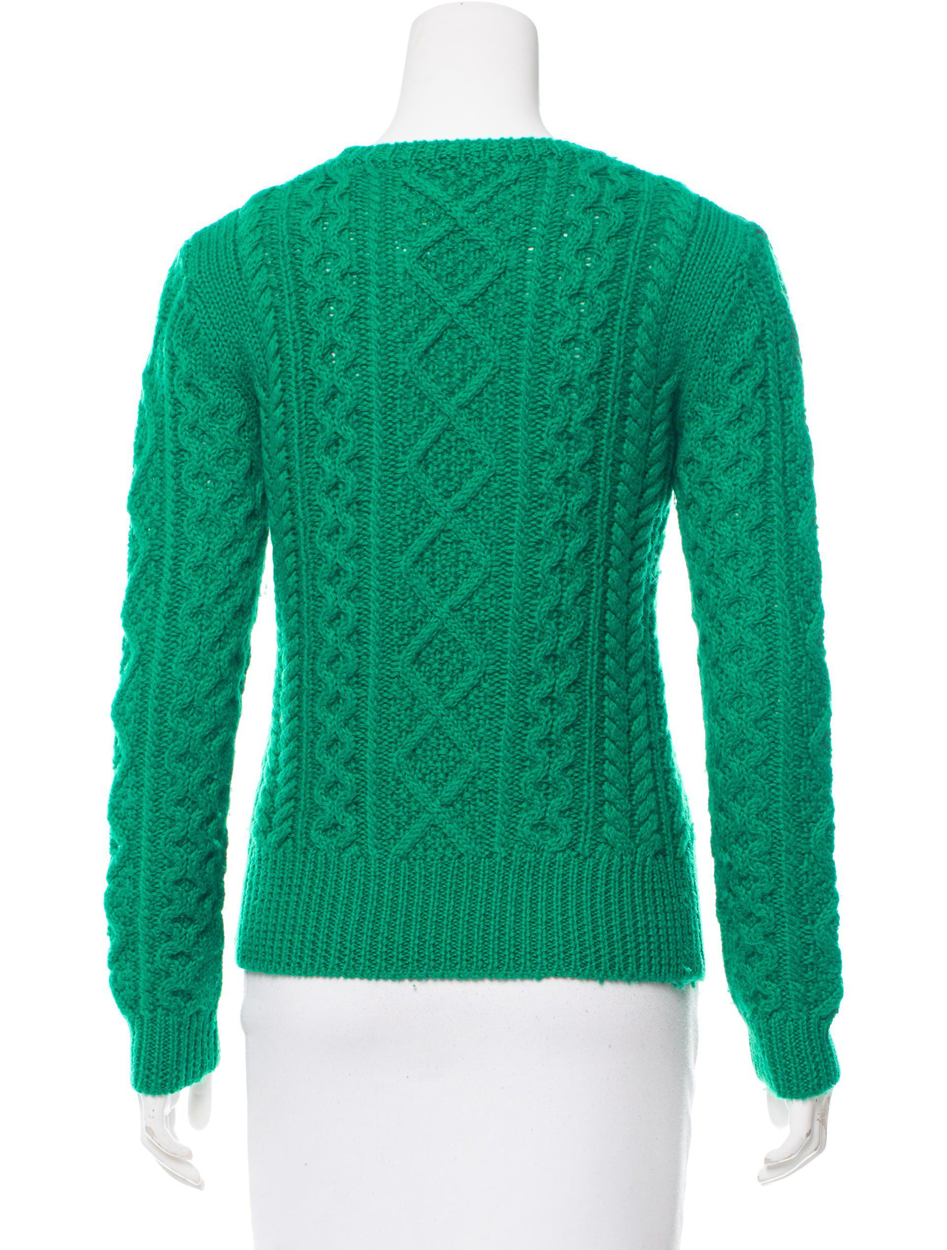 Étoile isabel marant Wool Cable-knit Sweater in Green | Lyst