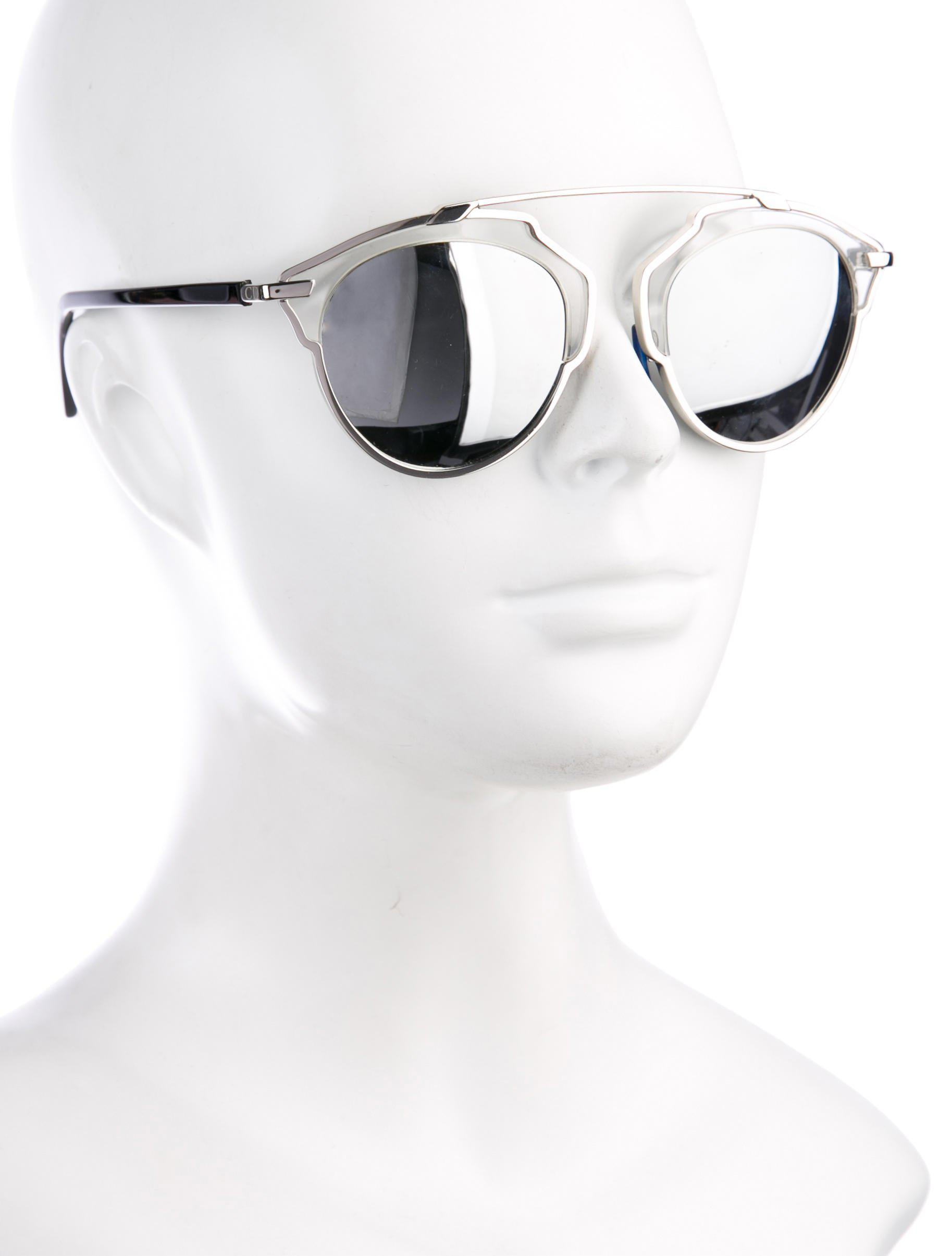 023425a6d513 Lyst - Dior Mirrored Metal Sunglasses Silver in Metallic