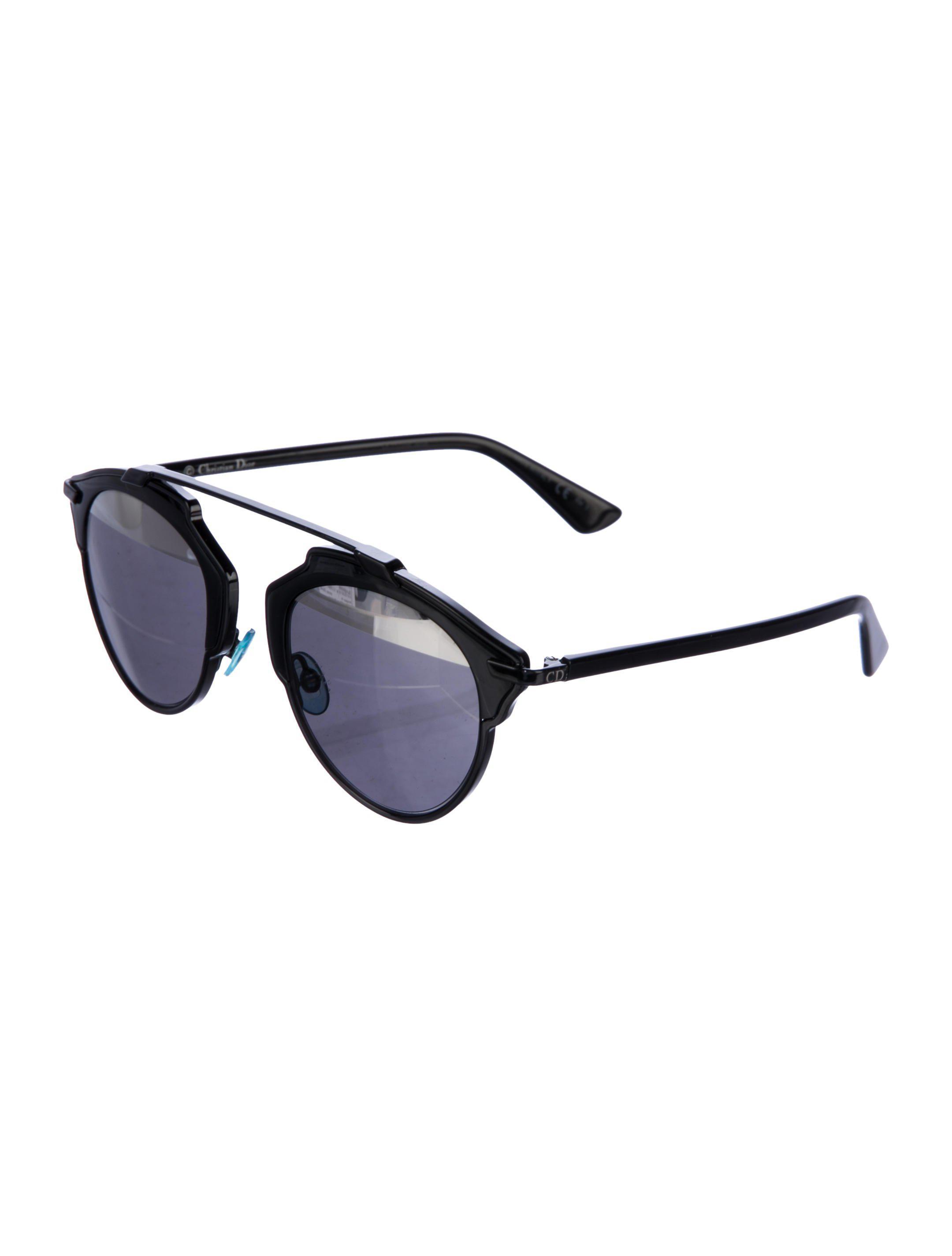 128c74147ae6 Lyst - Dior So Real Split Sunglasses Black in Metallic