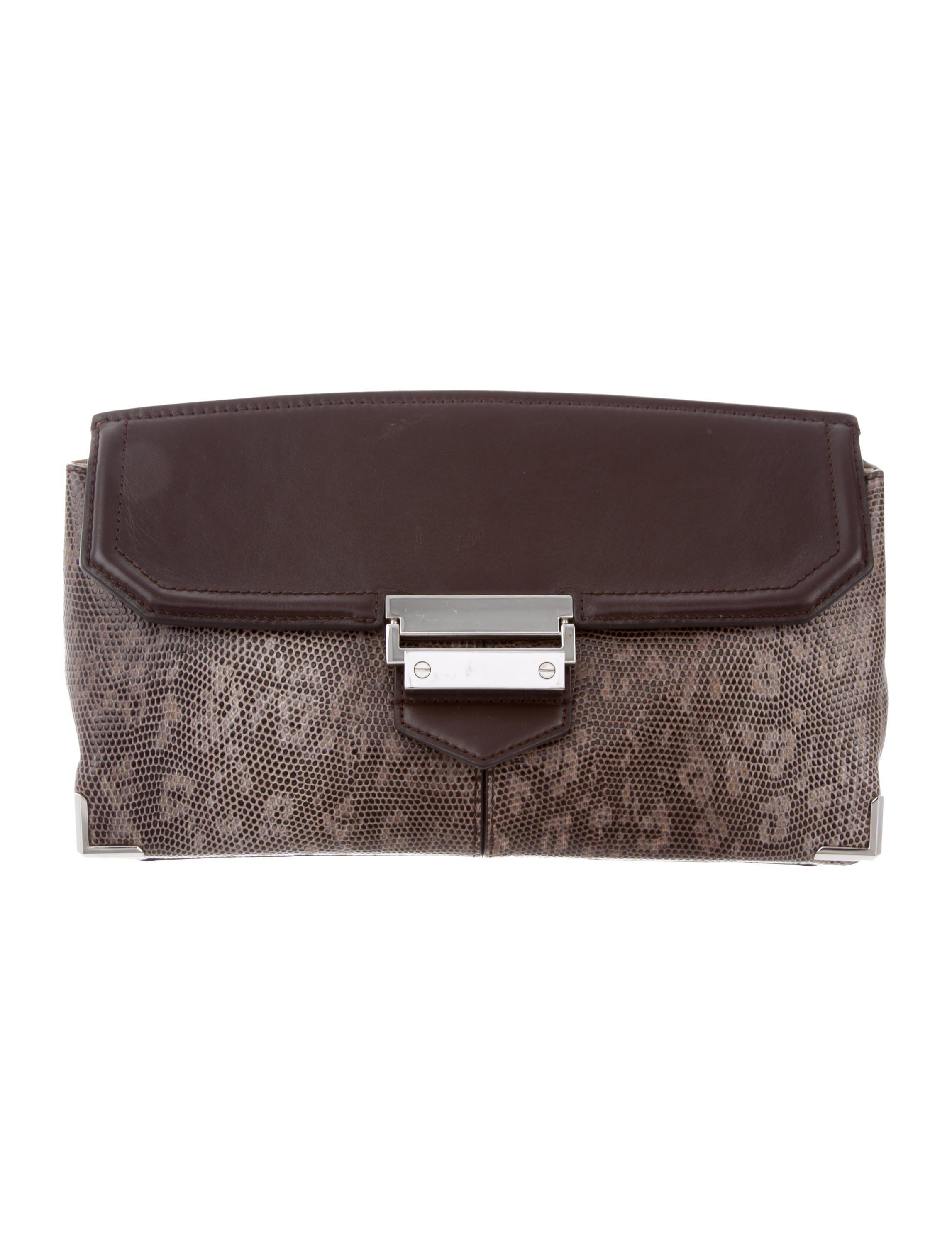 Lyst - Alexander Wang Ring Lizard Clutch Mink in Metallic ac605565d4f2f