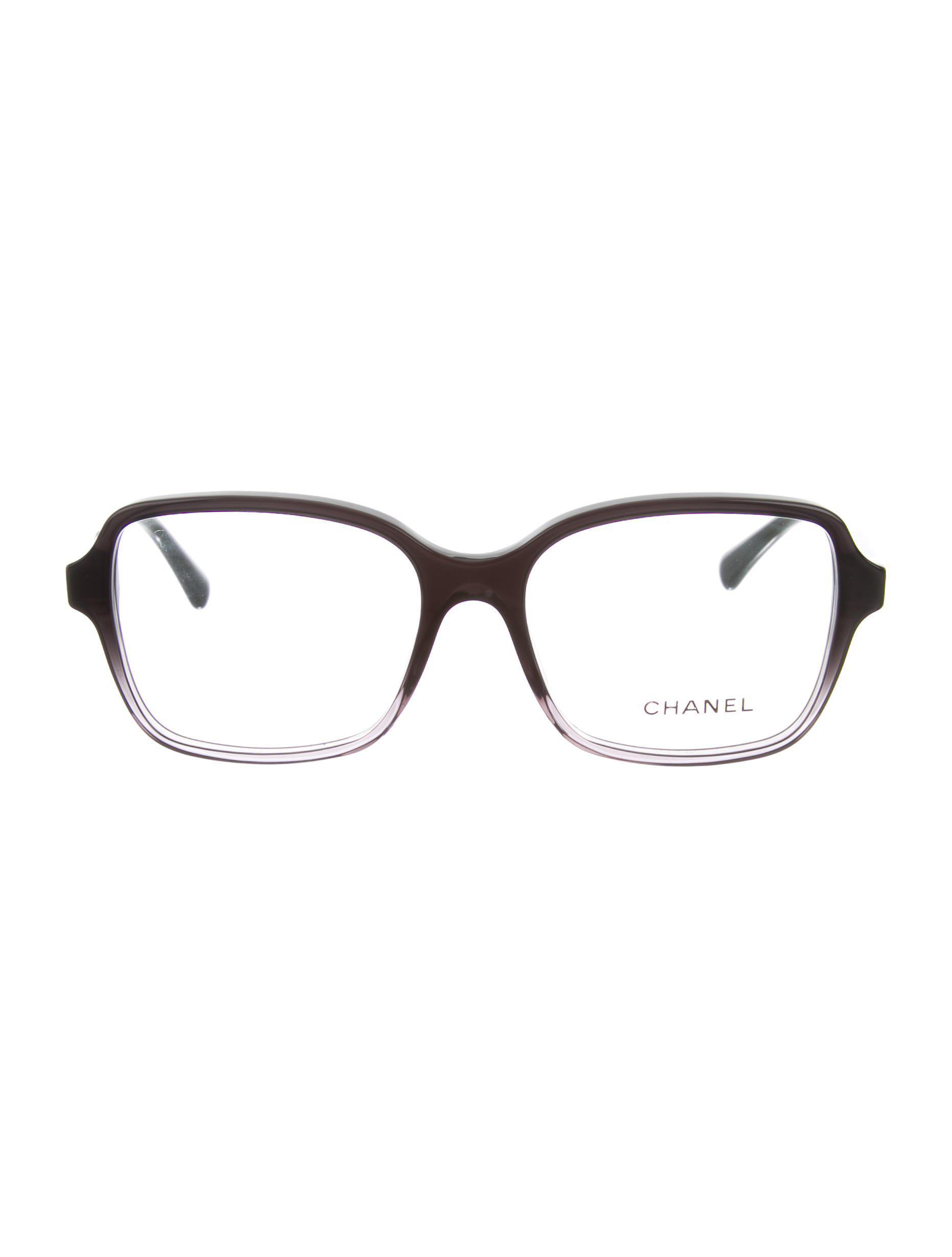 135dc2a7525 Lyst - Chanel Square Cc Eyeglasses W  Tags Black in Metallic
