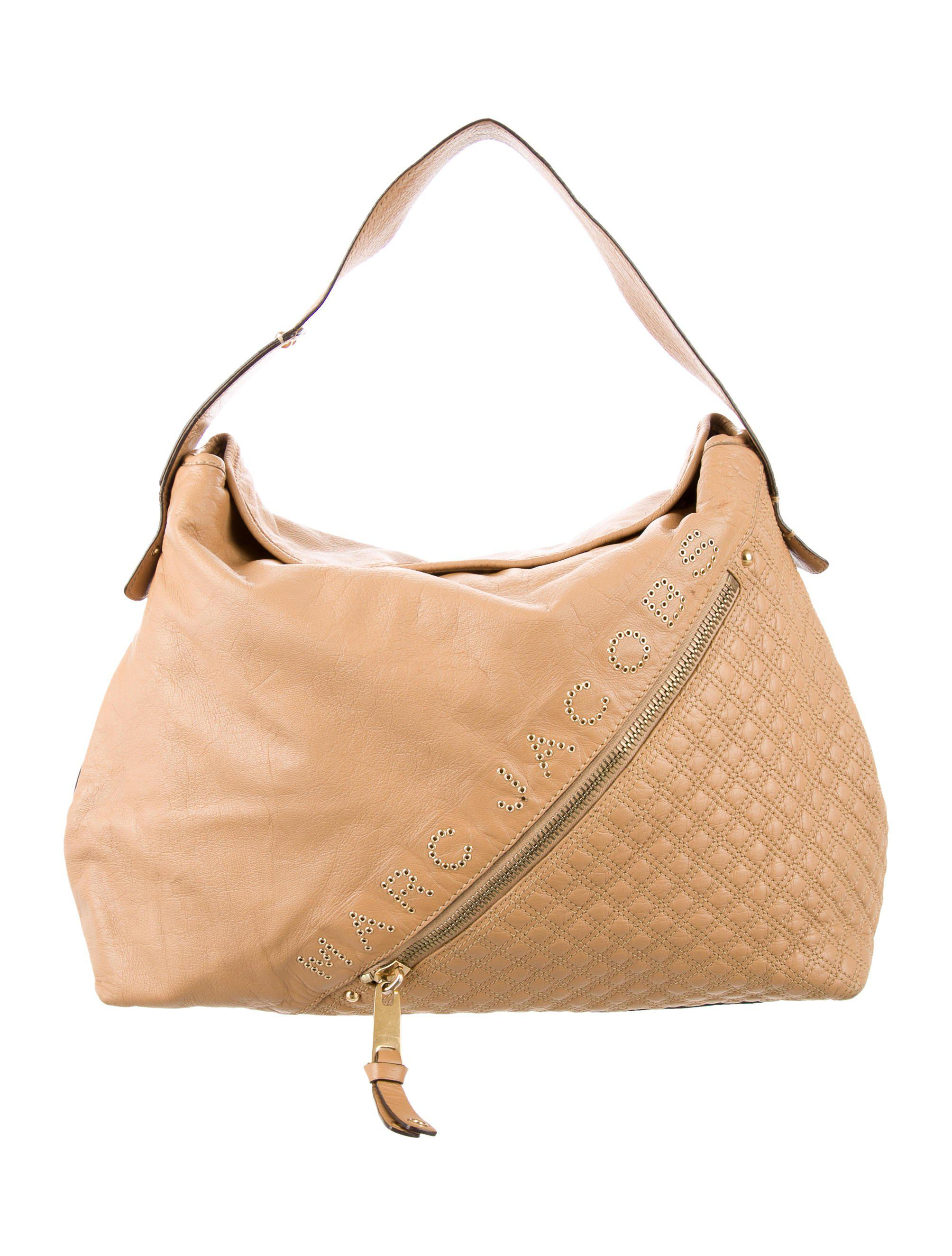 b7bc7d96240f5 Lyst - Marc Jacobs Leather Hobo Bag Gold in Metallic