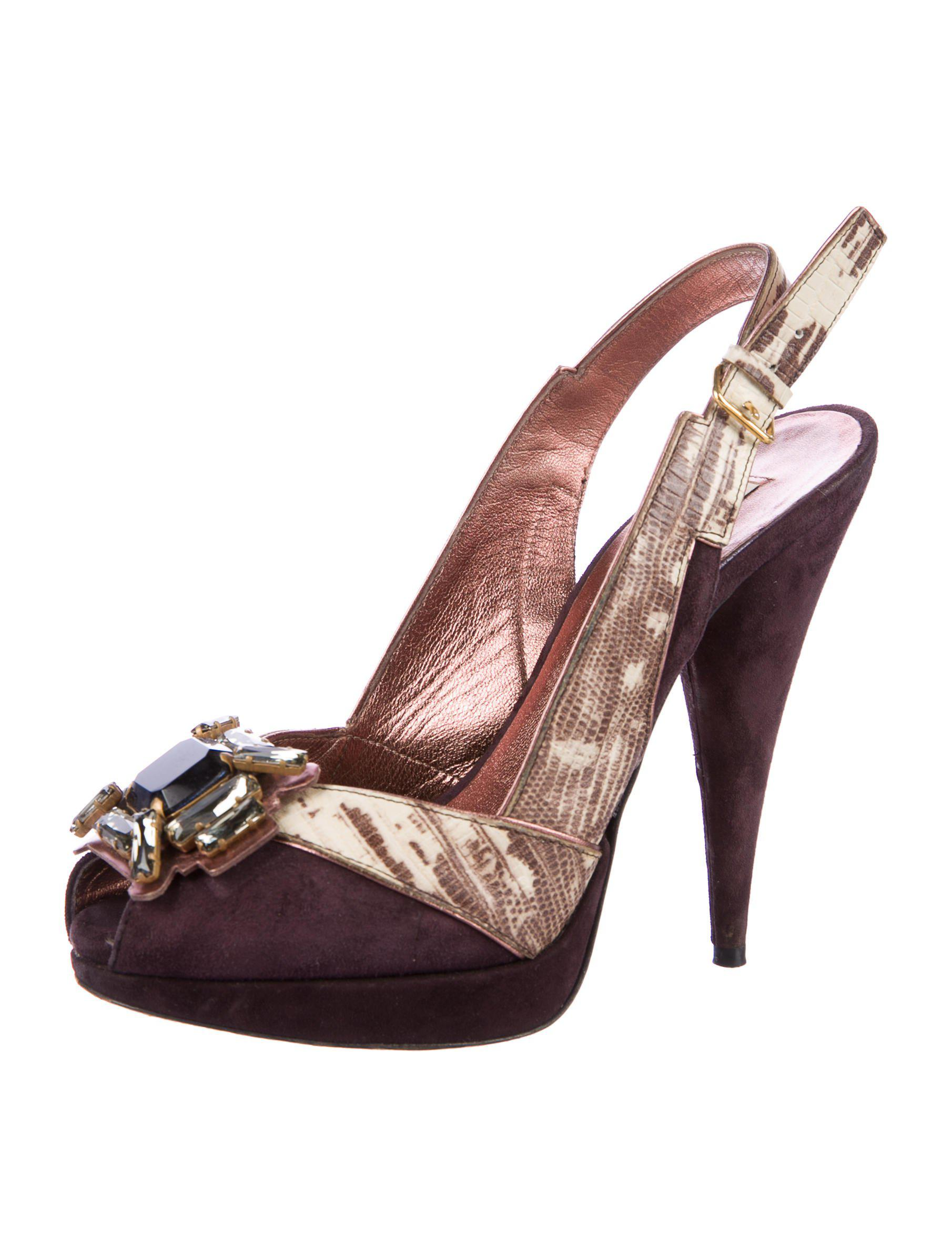 Miu Miu Embossed Embellished Pumps free shipping pay with paypal clearance tumblr the cheapest for sale w3rdlaOq7