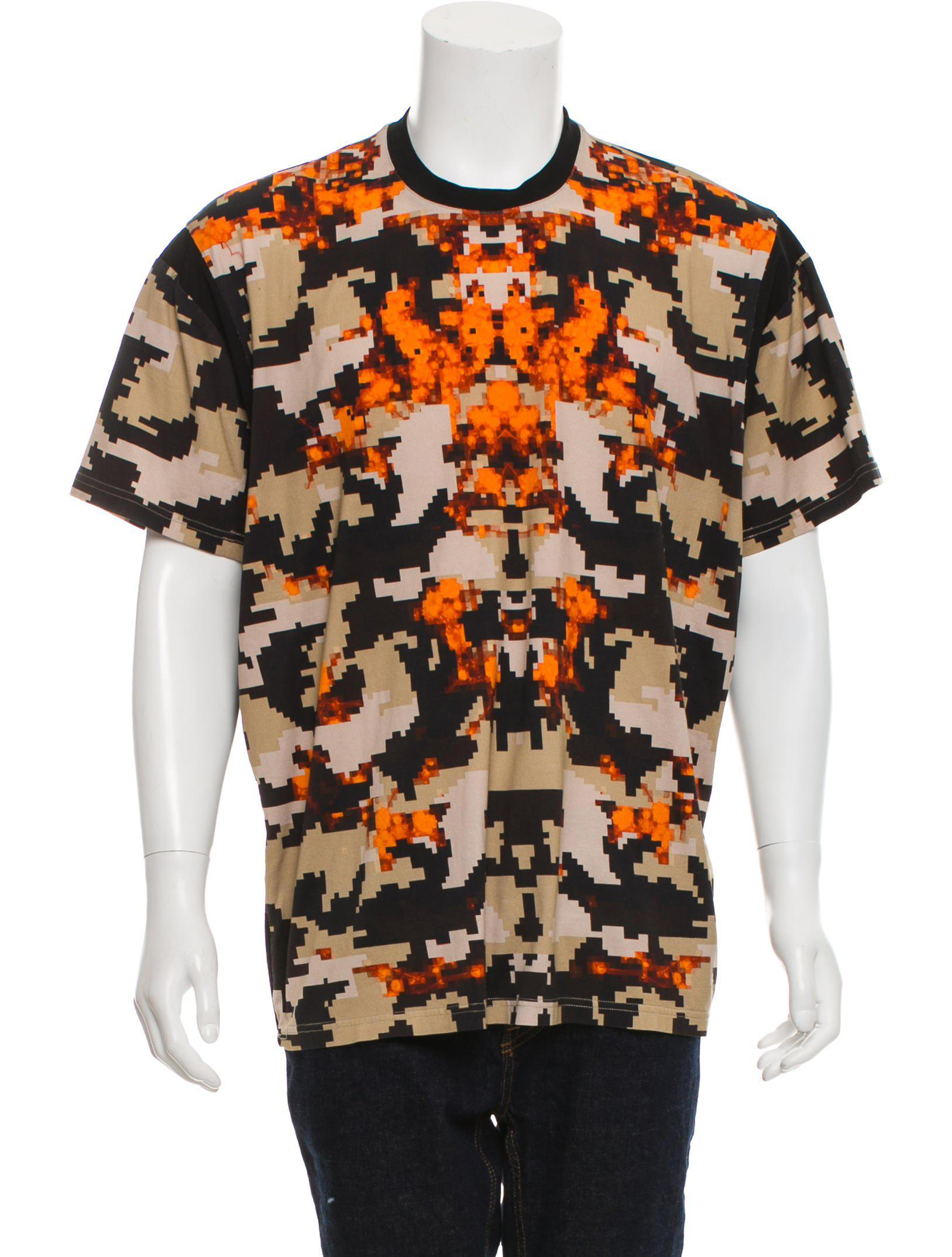 9b9d271ed Lyst - Givenchy Camo Fire Print T-shirt Black in Natural for Men