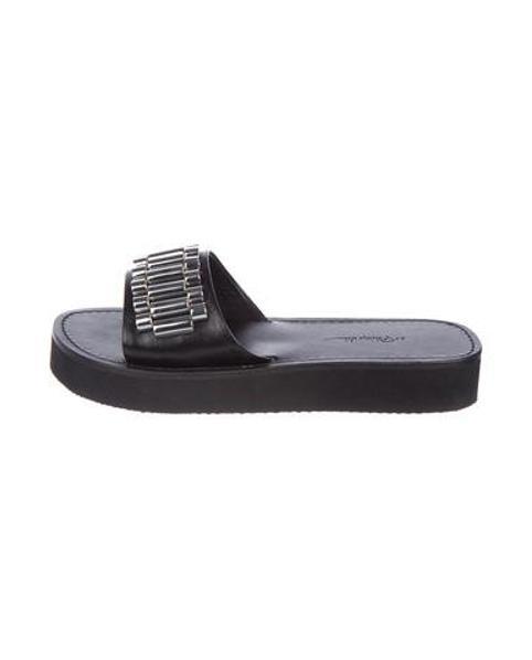 439cc012f00e Lyst - 3.1 Phillip Lim Eva Slide Sandals W  Tags Black in Metallic