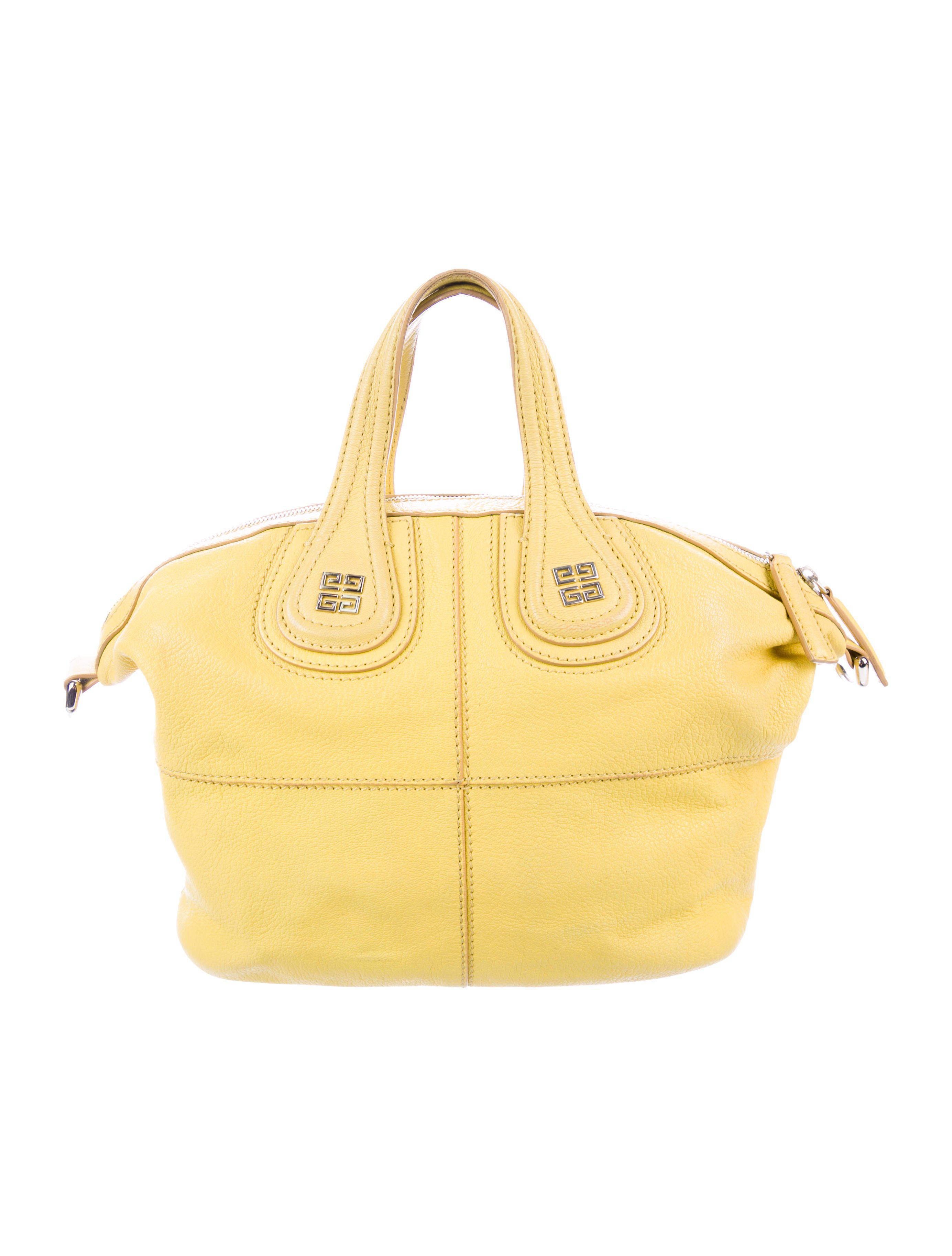 a2ccb6328f7f Lyst - Givenchy Medium Nightingale Satchel Yellow in Metallic